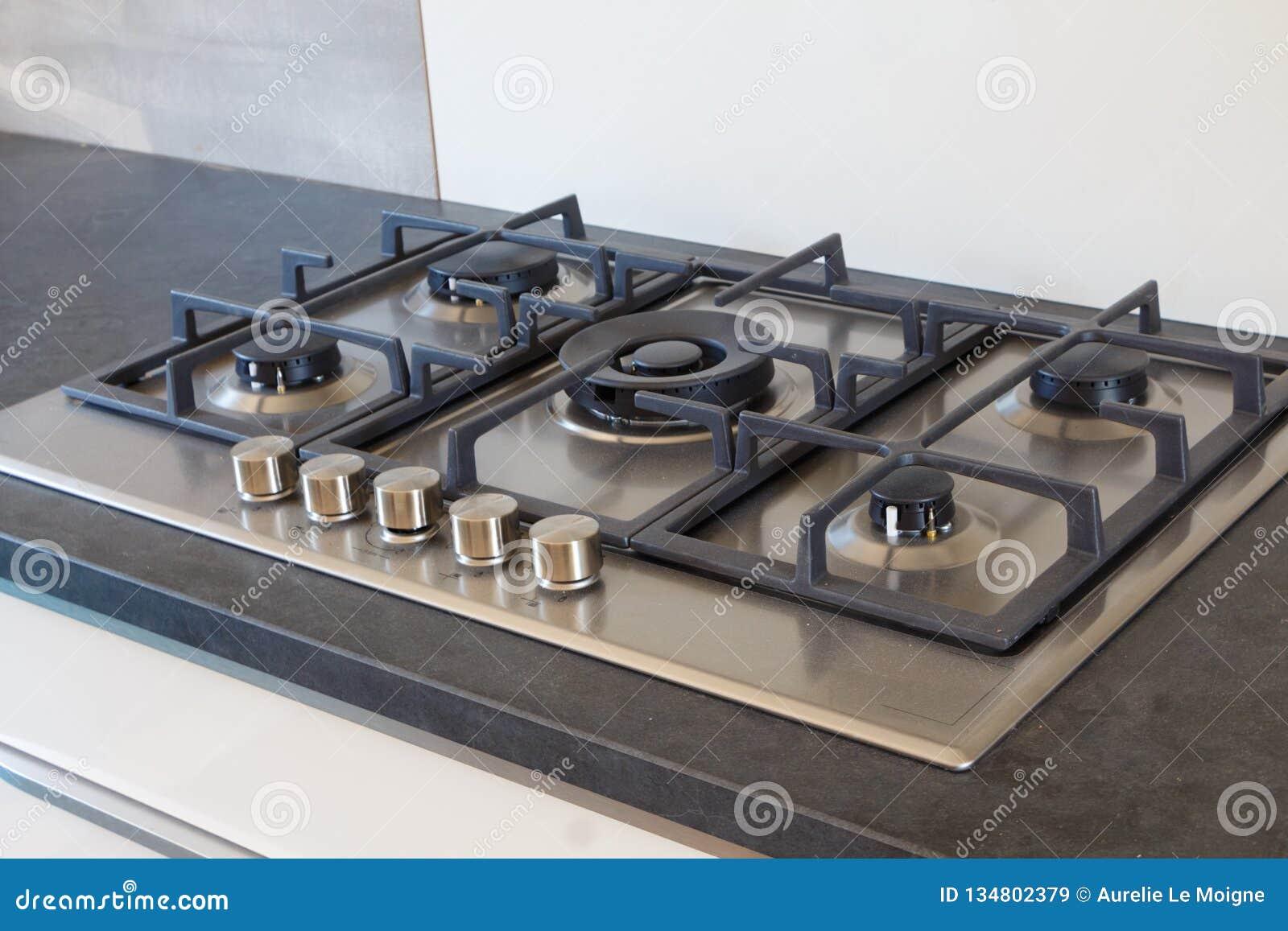 Cooktop en una cocina