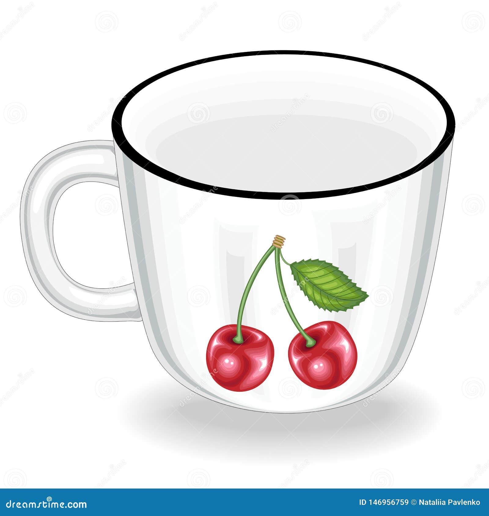 Cookware Una taza es necesaria en la cocina en la cocina De ?l beben el t?, caf?, otras bebidas Ilustraci?n del vector