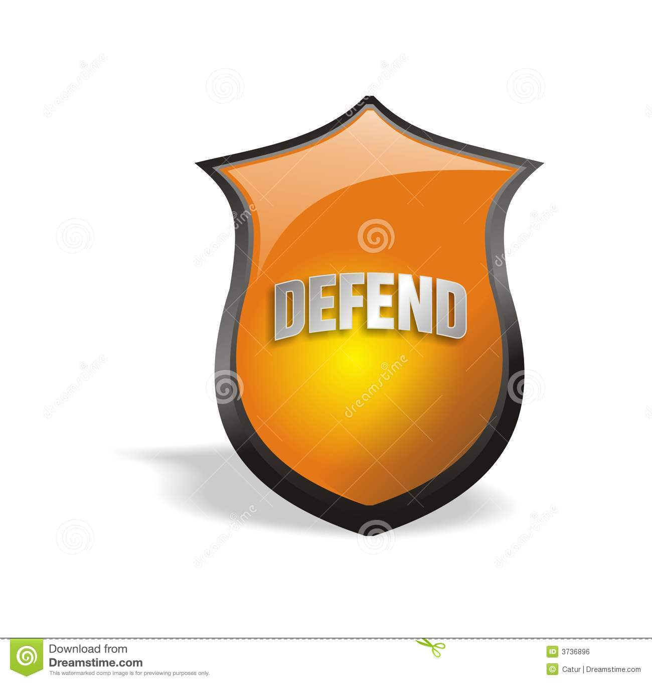 Cool 2.0 Shield Defend Royalty Free Stock Image