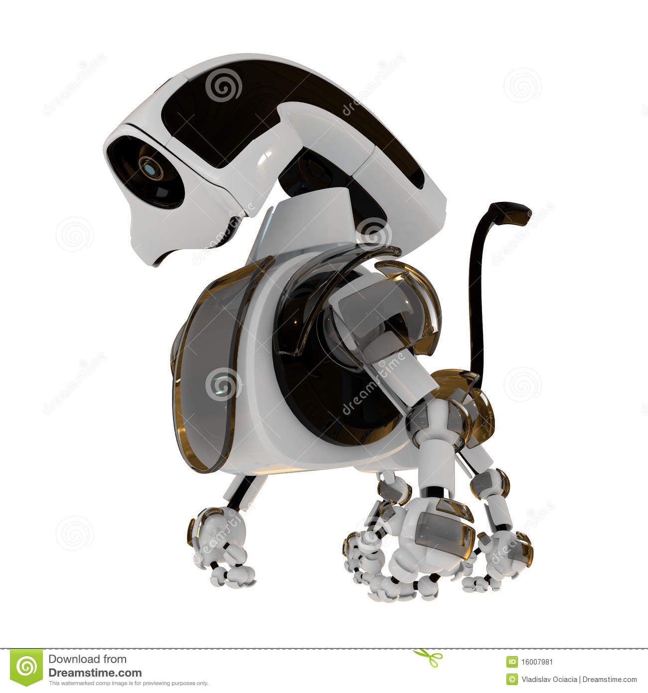Cool Robot Toys : Cool d robotic toy stock image