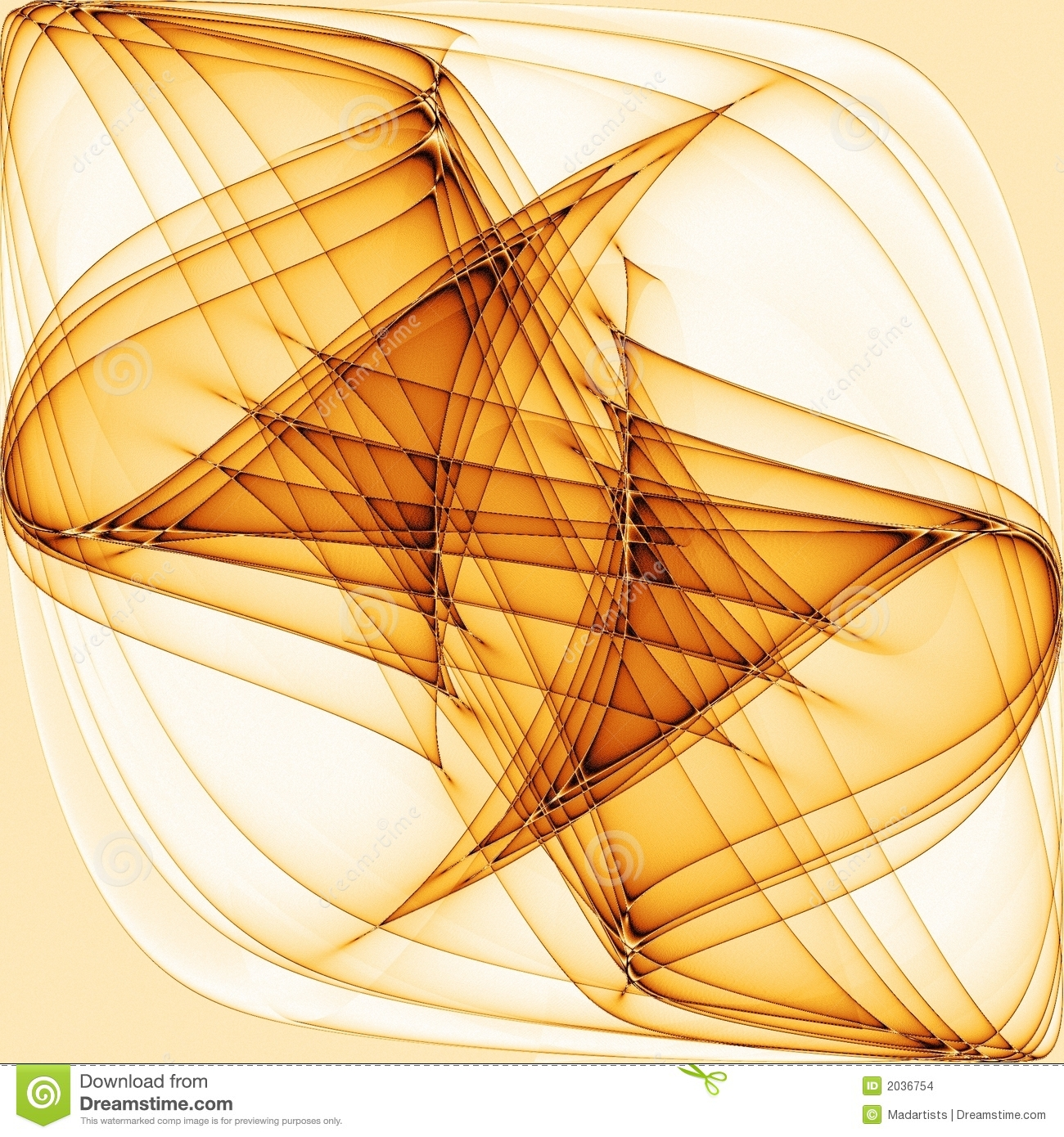 Cool Abstract Gold Wavy Lines Stock Images