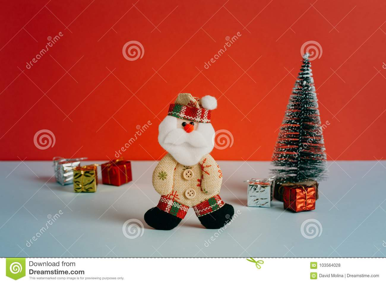 Cool Alternative Dressed Santa Toy With Gifts And Christmas Tree ...