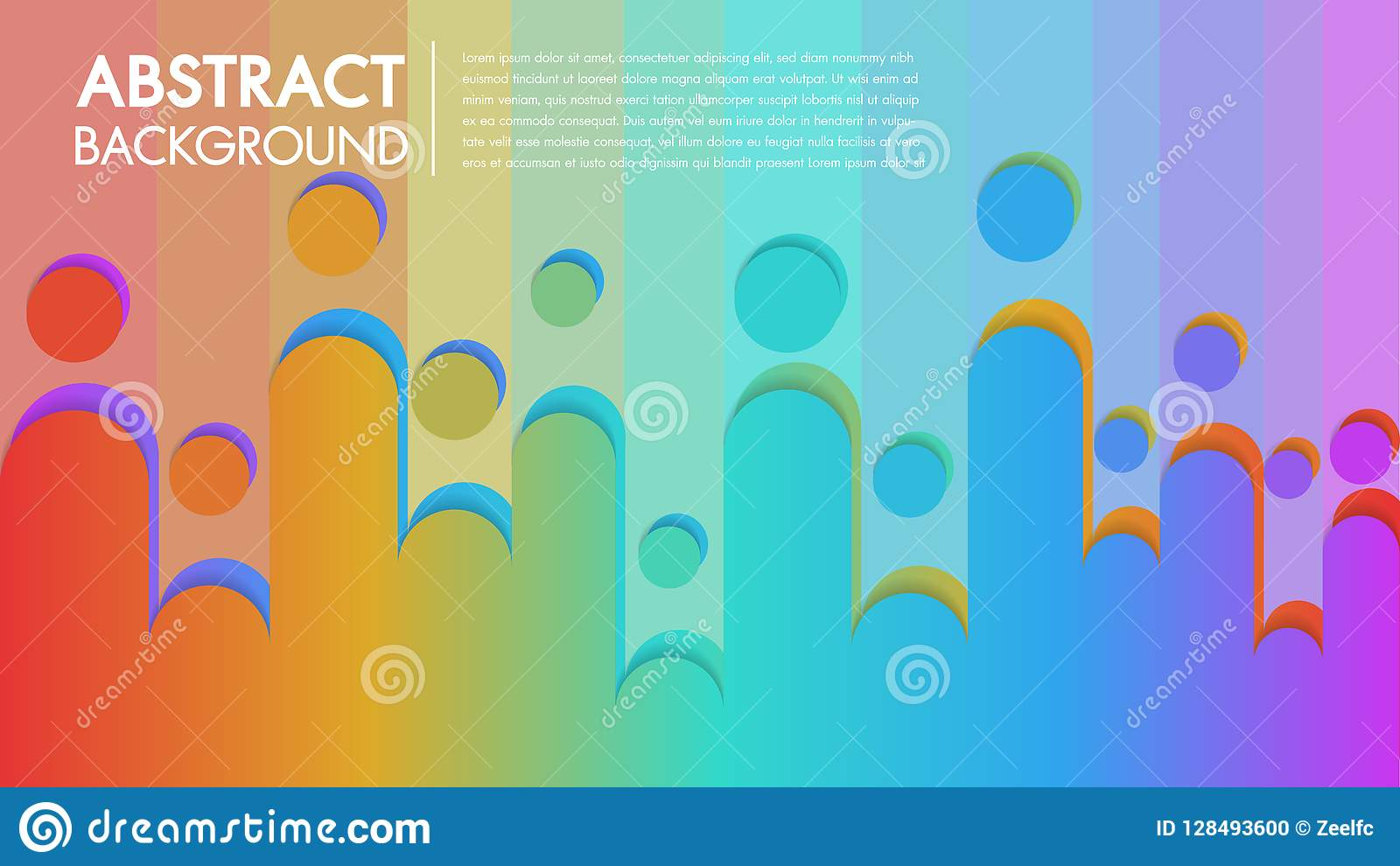 Cool Background Colorful Abstract Poster With Flat Geometric