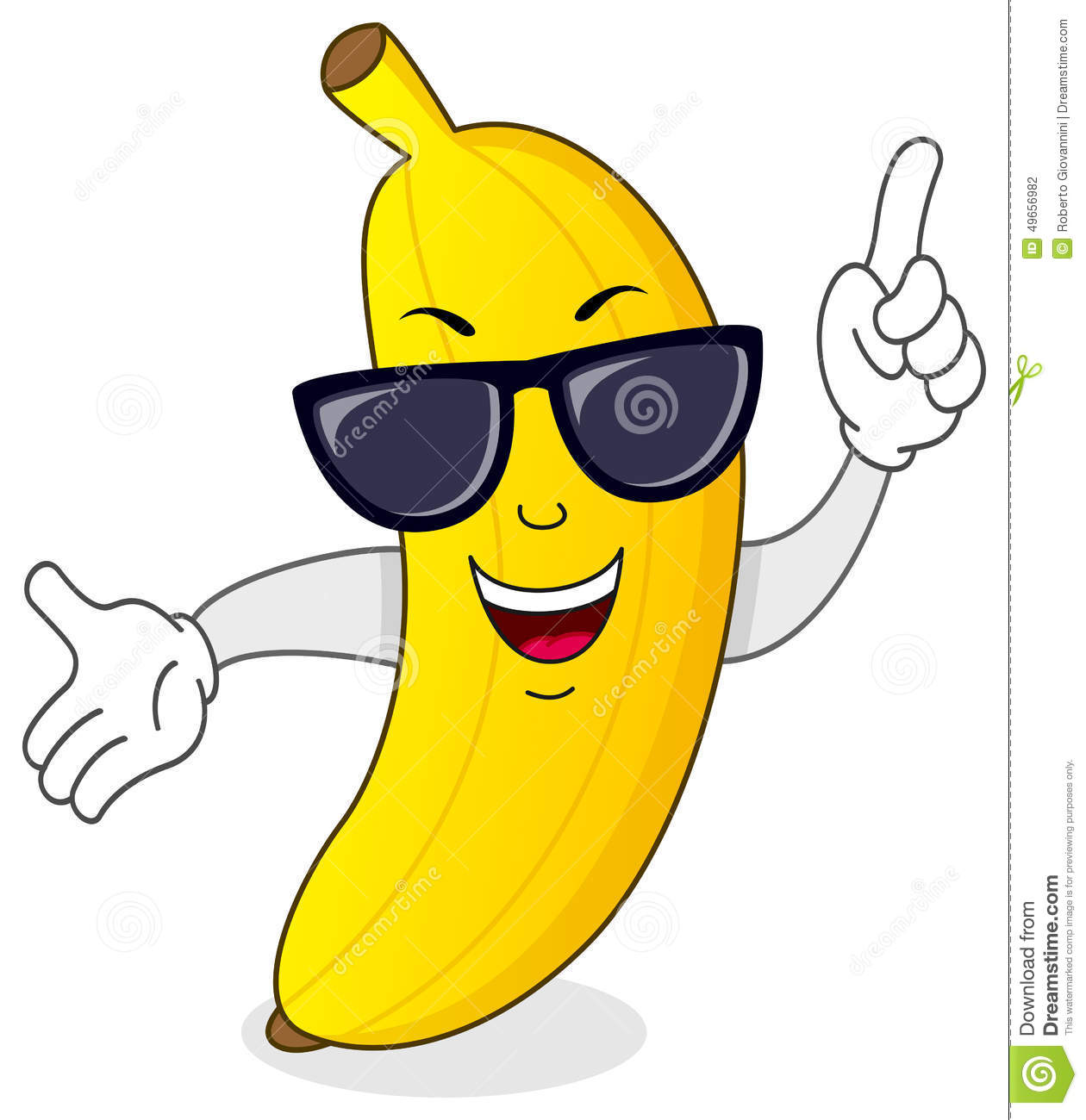 Cool Banana Character With Sunglasses Stock Vector Illustration Of