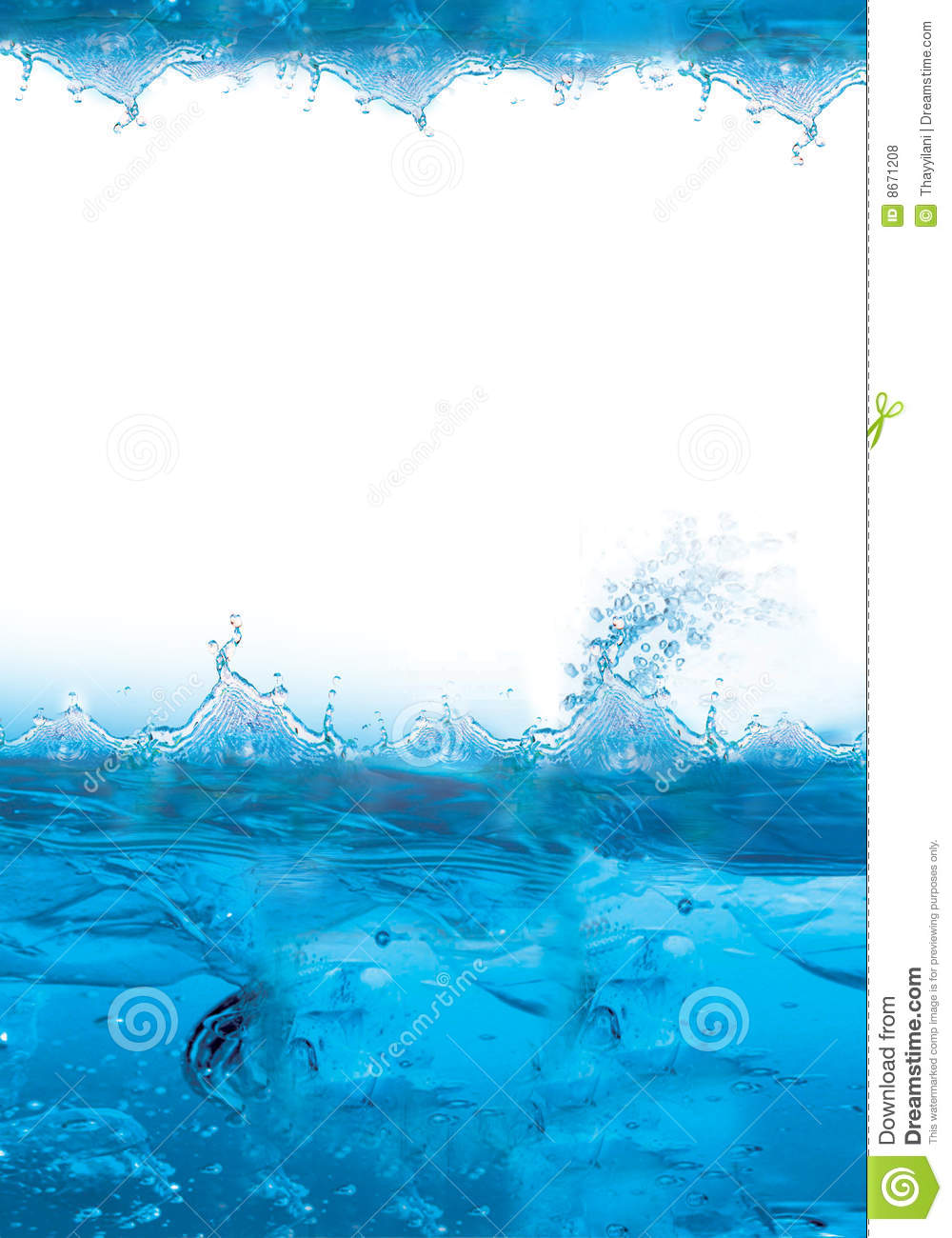 Cool blue and icy background