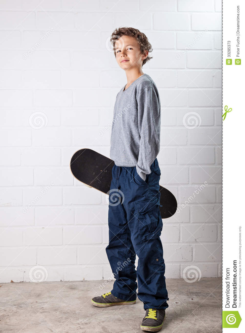 Cool boy and his skateboard stock photos image 33285373 - Cool boys photo ...