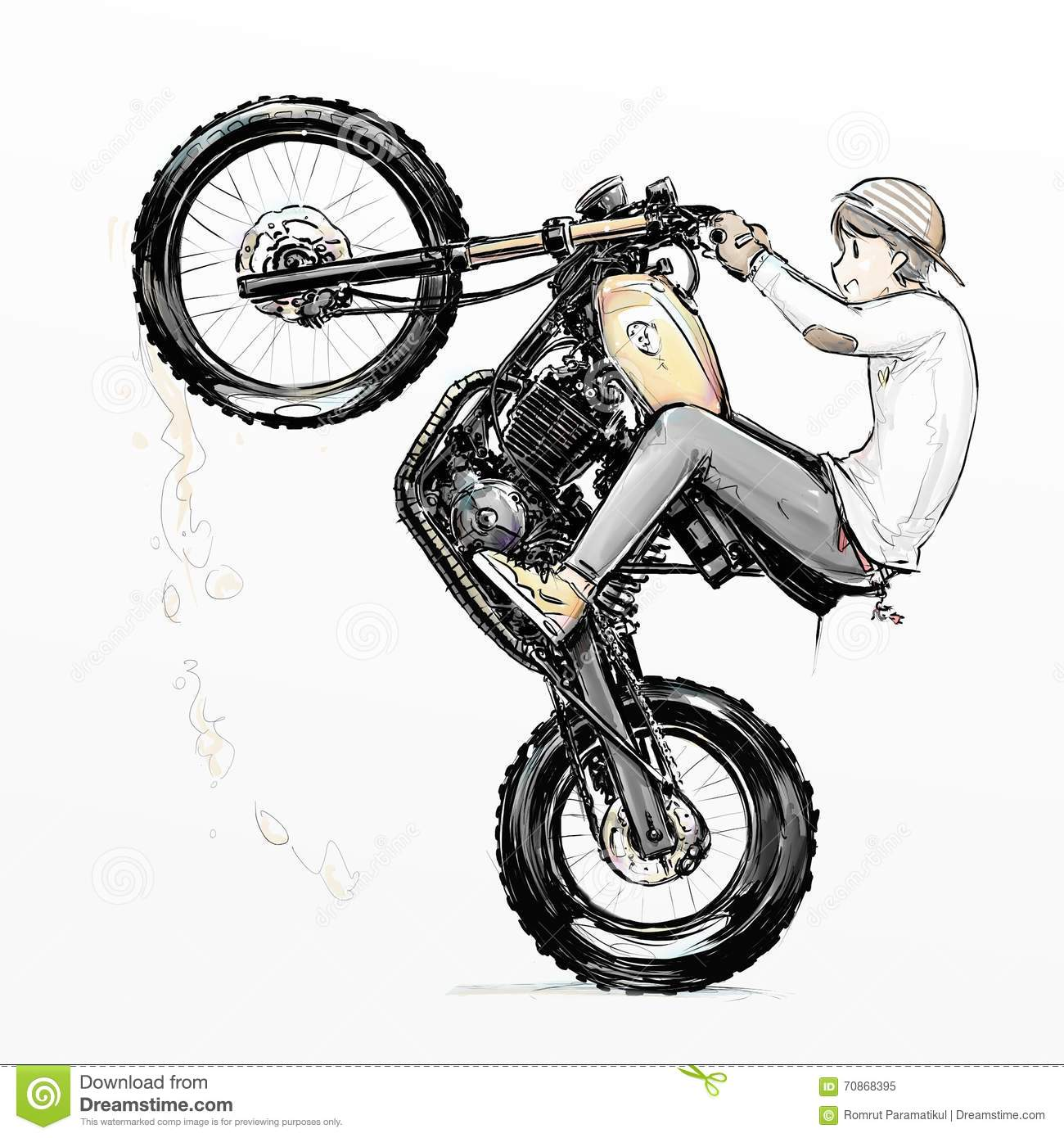 cool boy riding motorcycle stock illustration illustration of candy