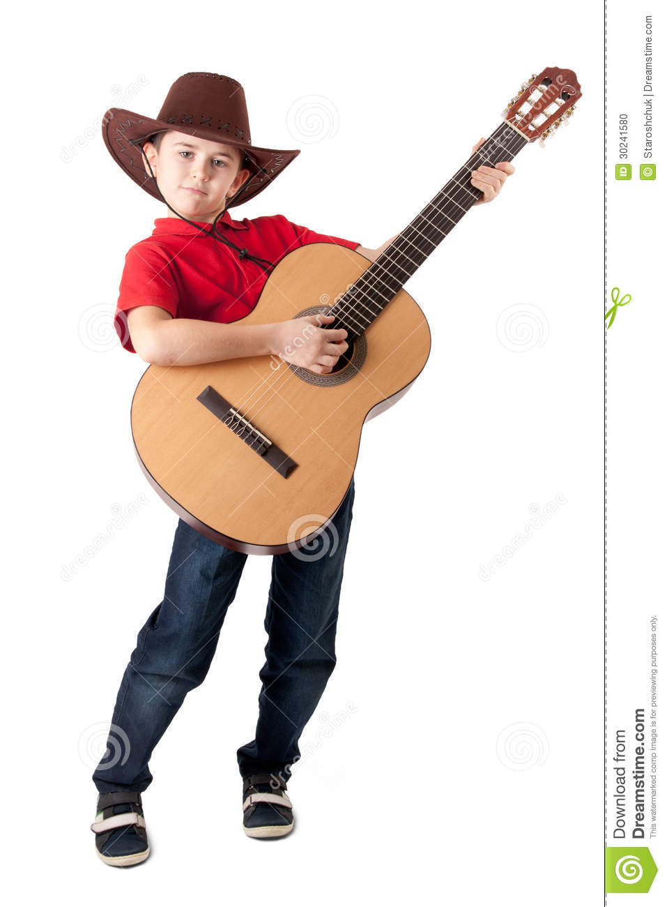 Cool Boy With Acoustic Guitar