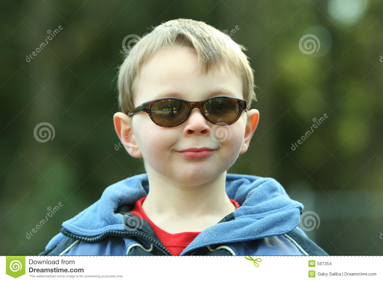Cool boy with sun glasses