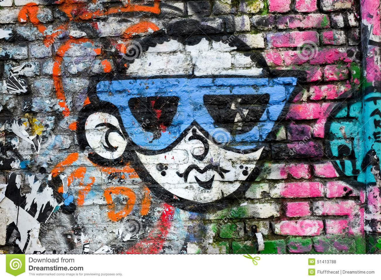 Editorial Stock Photo Cool Boy Wearing Sunglasses Graffiti Design London Uk Cartoon Looking Shoreditch Image51413788 on cartoon boy mouth