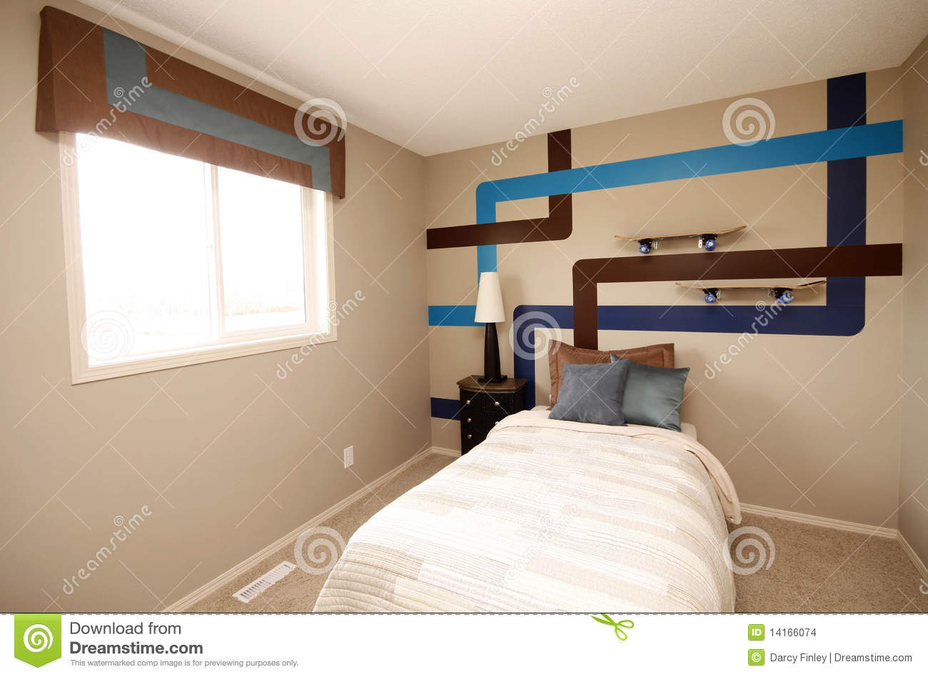 Cool boys bedroom stock photo image of condo relax 14166074 - Bed room photo ...