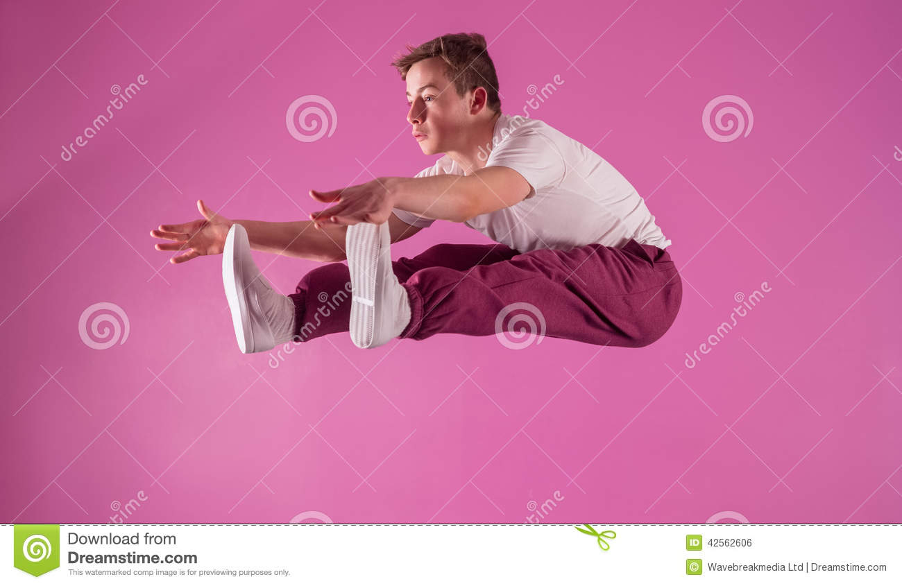 Cool break dancer mid air