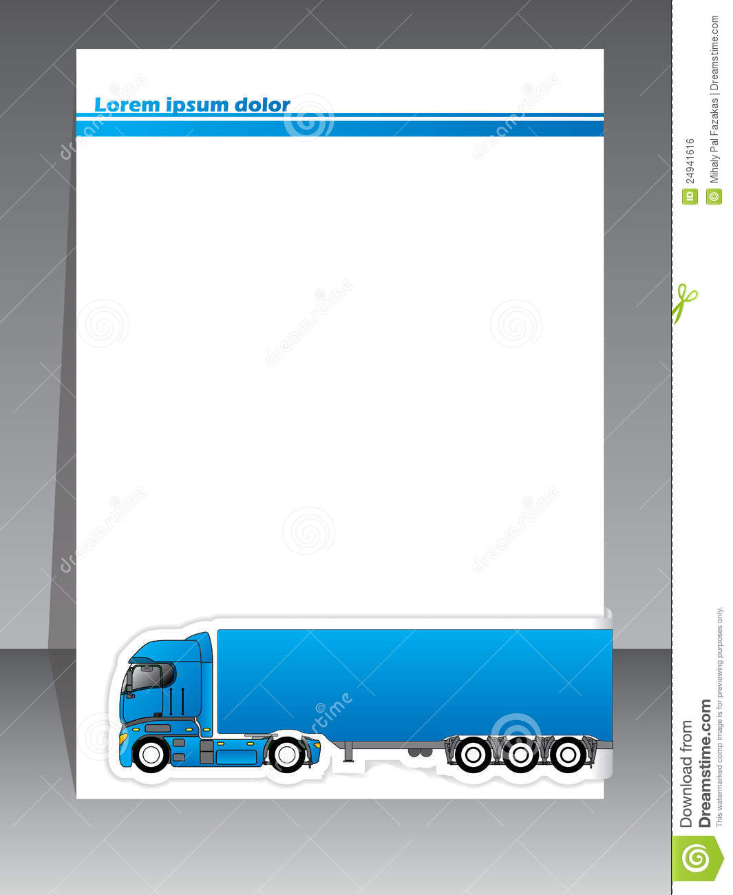Cool Brochure Design For Transportation Companies Stock Vector