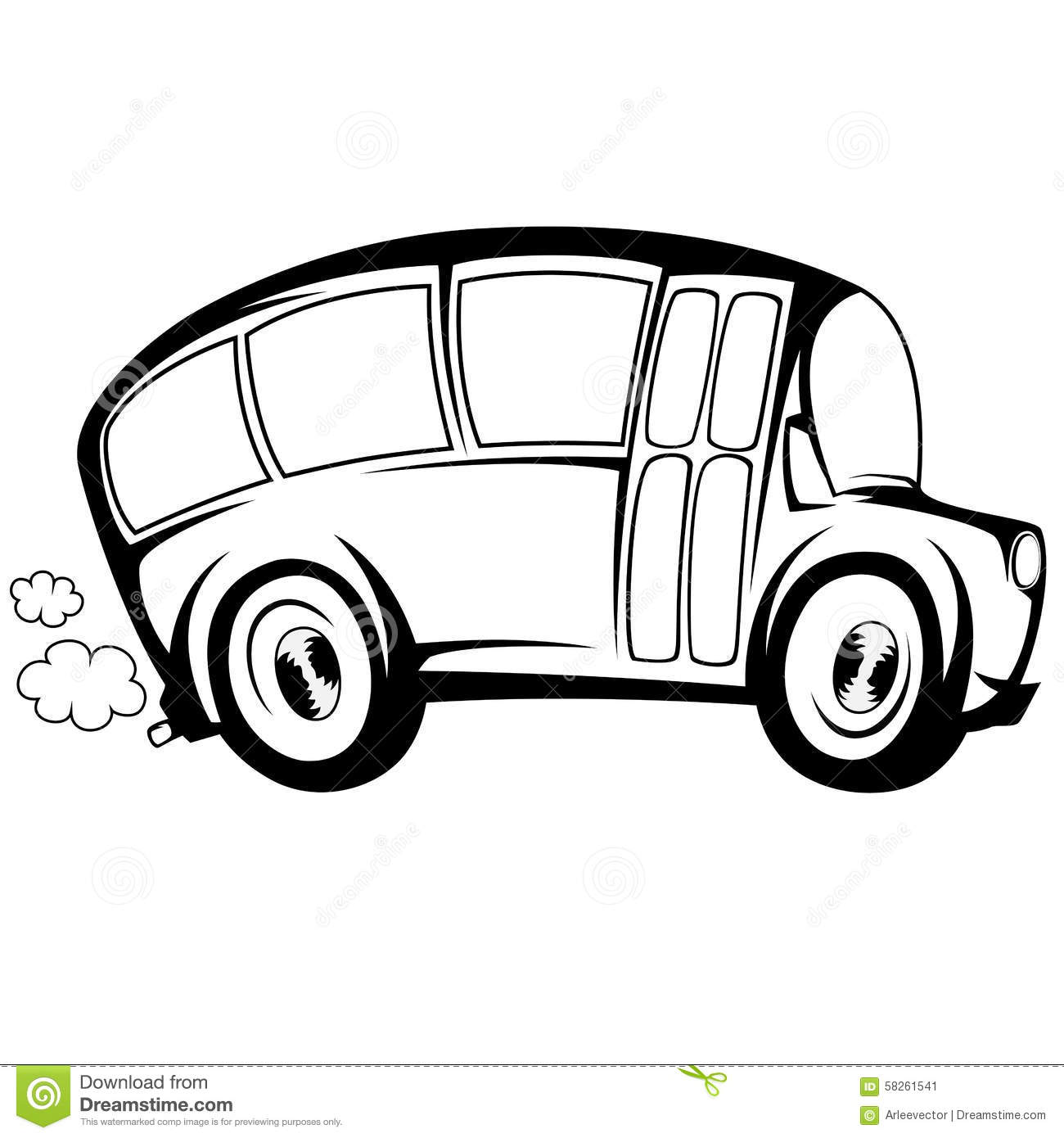 Cool Bus Stock Vector Image Of People Tourists