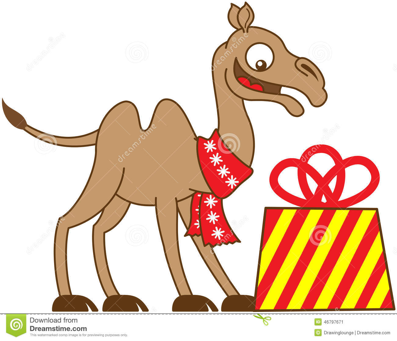 Cool Camel Receiving A Christmas Gift Stock Vector - Image: 46797671