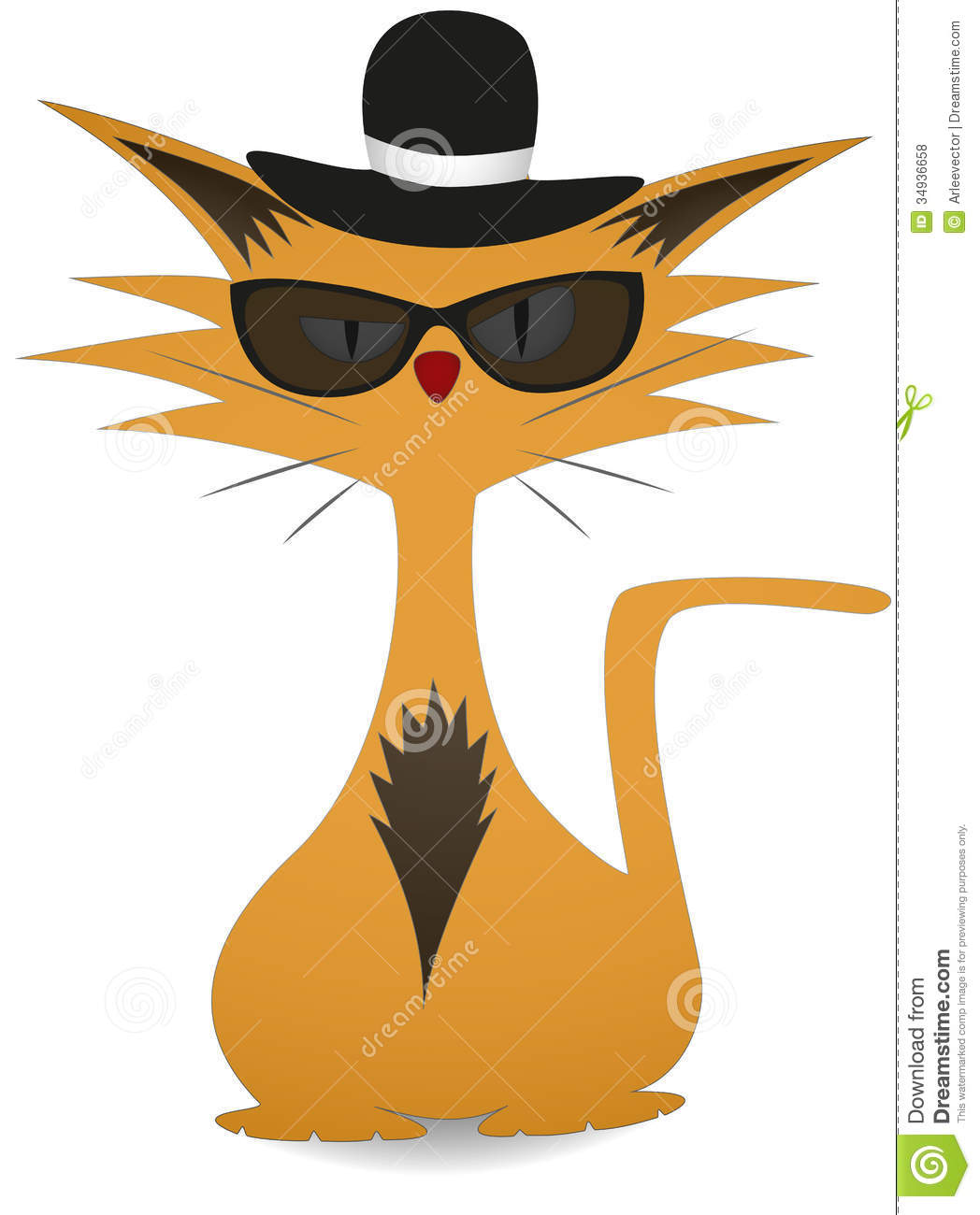 Gangster Cat In The Hat