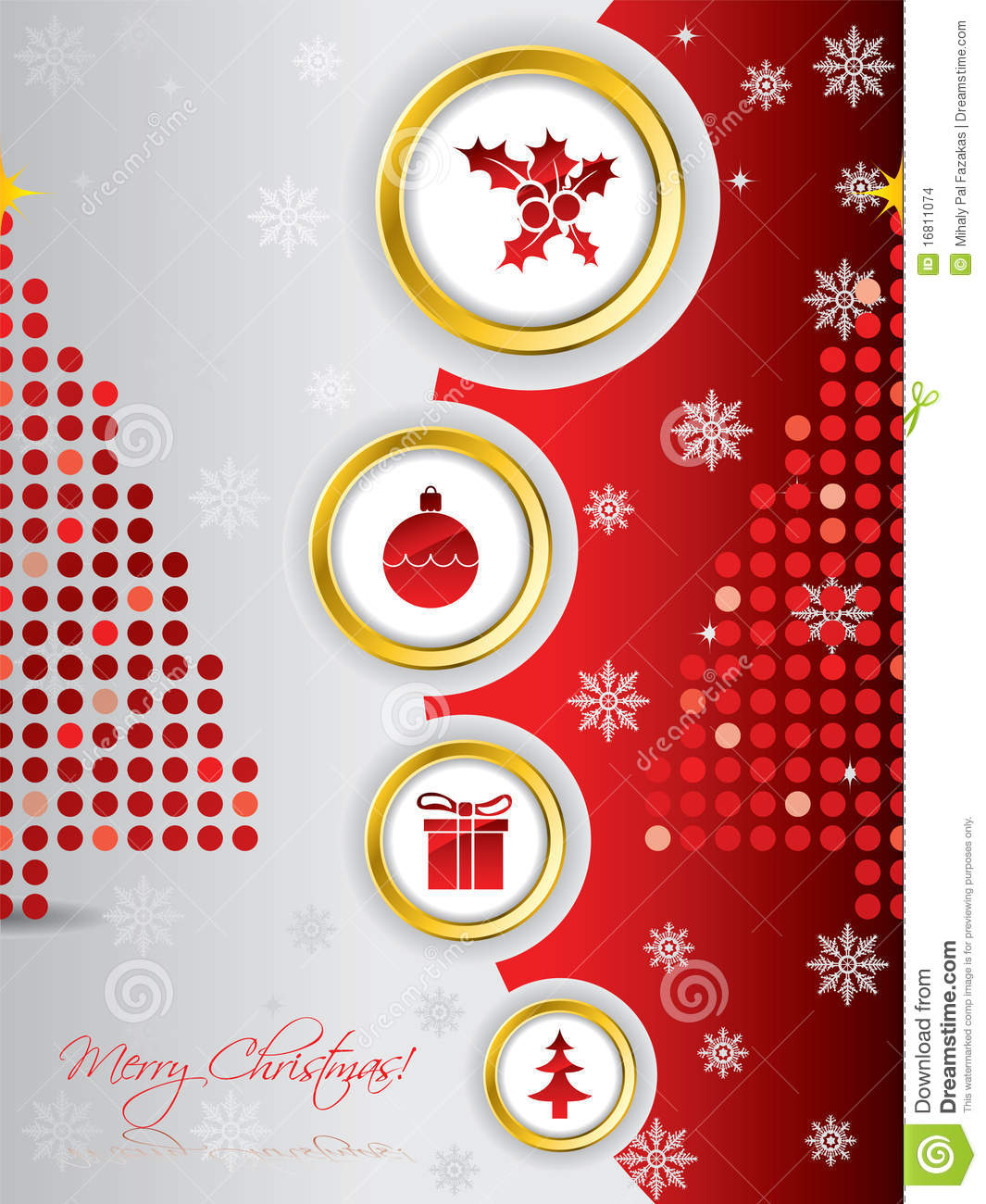 Cool Christmas Card Design Stock Images Image 16811074