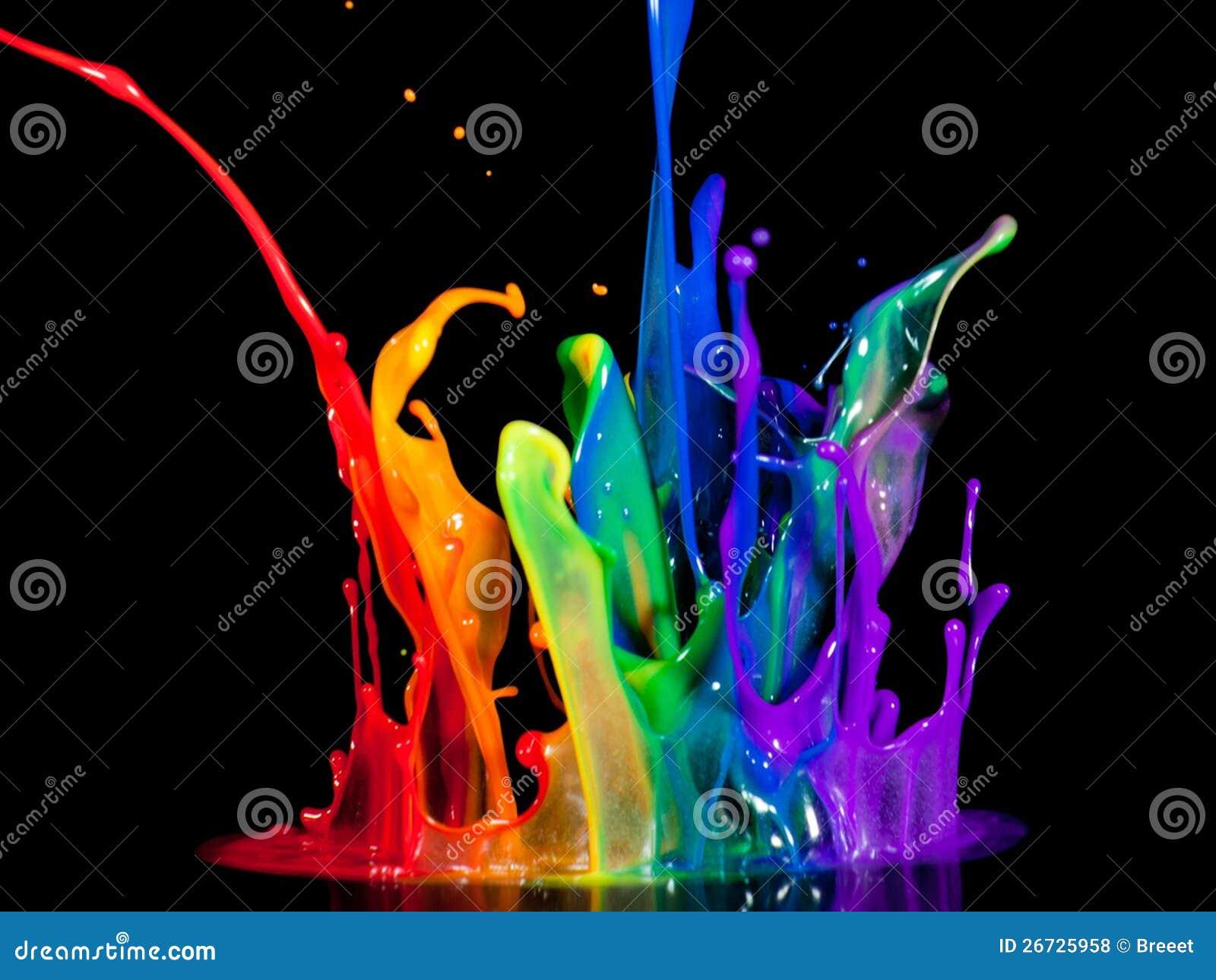 Cool color splash
