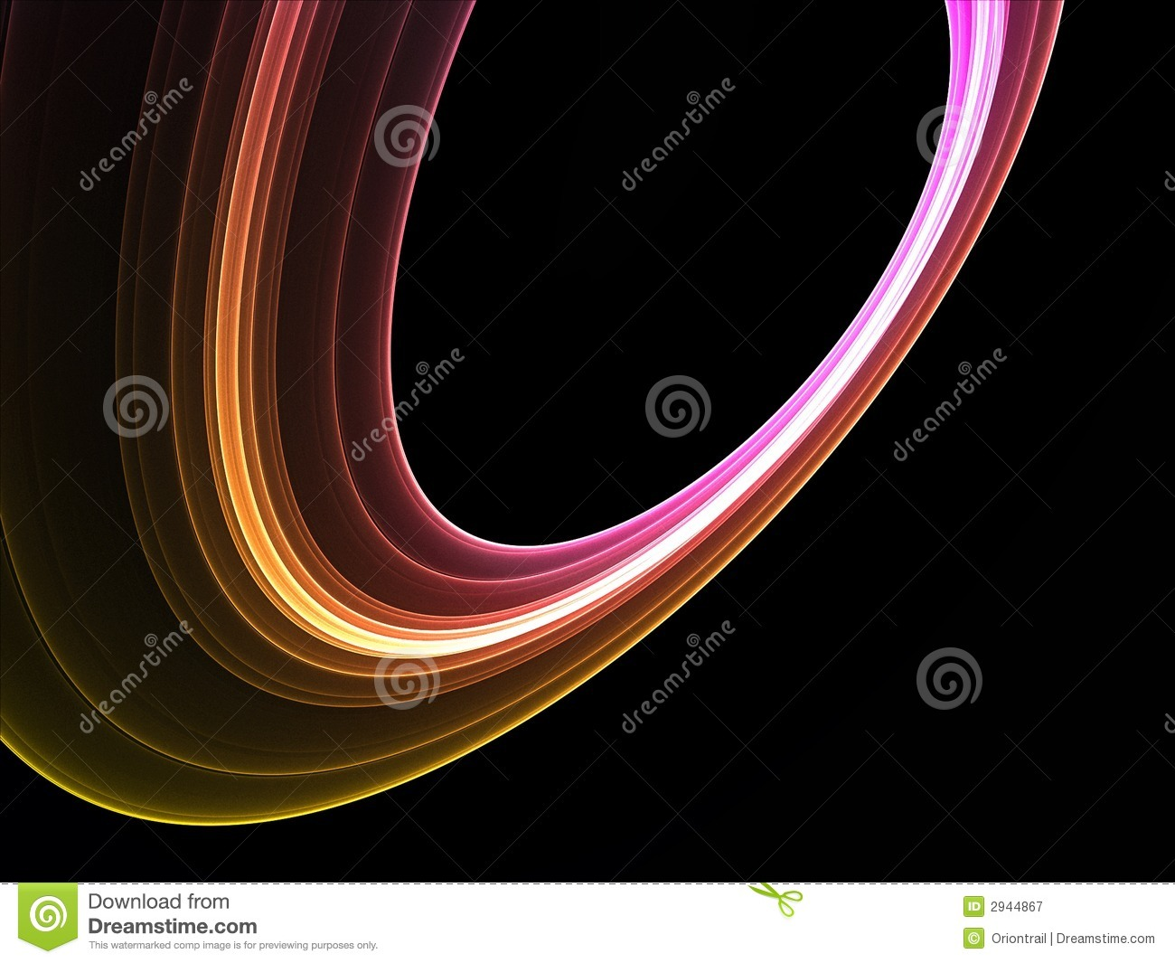 Cool Colorful Abstract Rings Stock Illustration