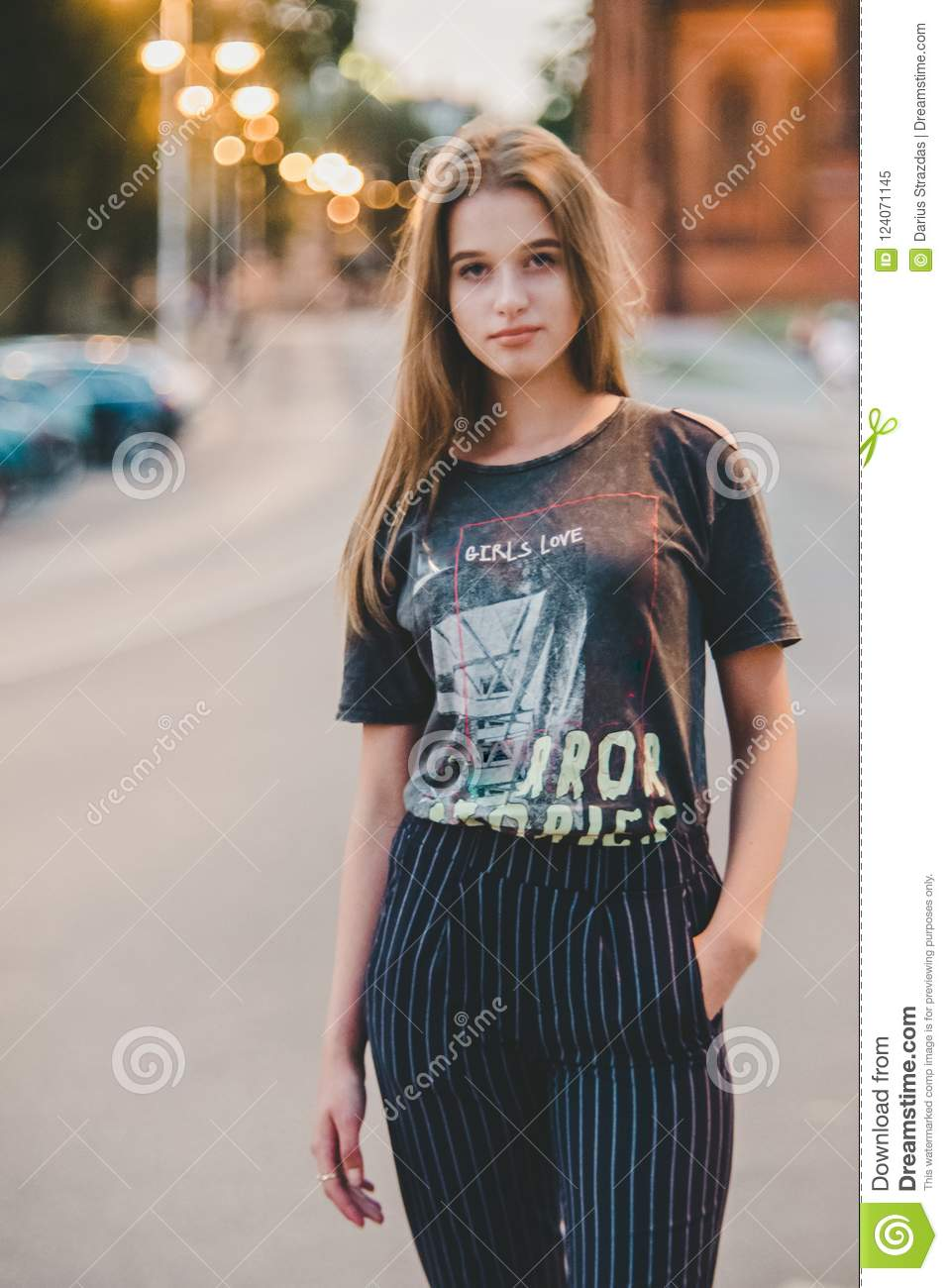 Cool And Confident Teen Girl Posing Stock Image , Image of