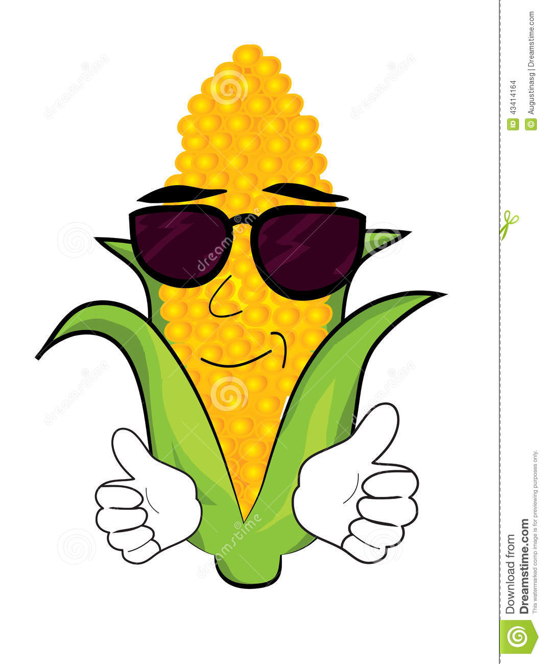 Cool Corn Cartoon Stock Illustration - Image: 43414164