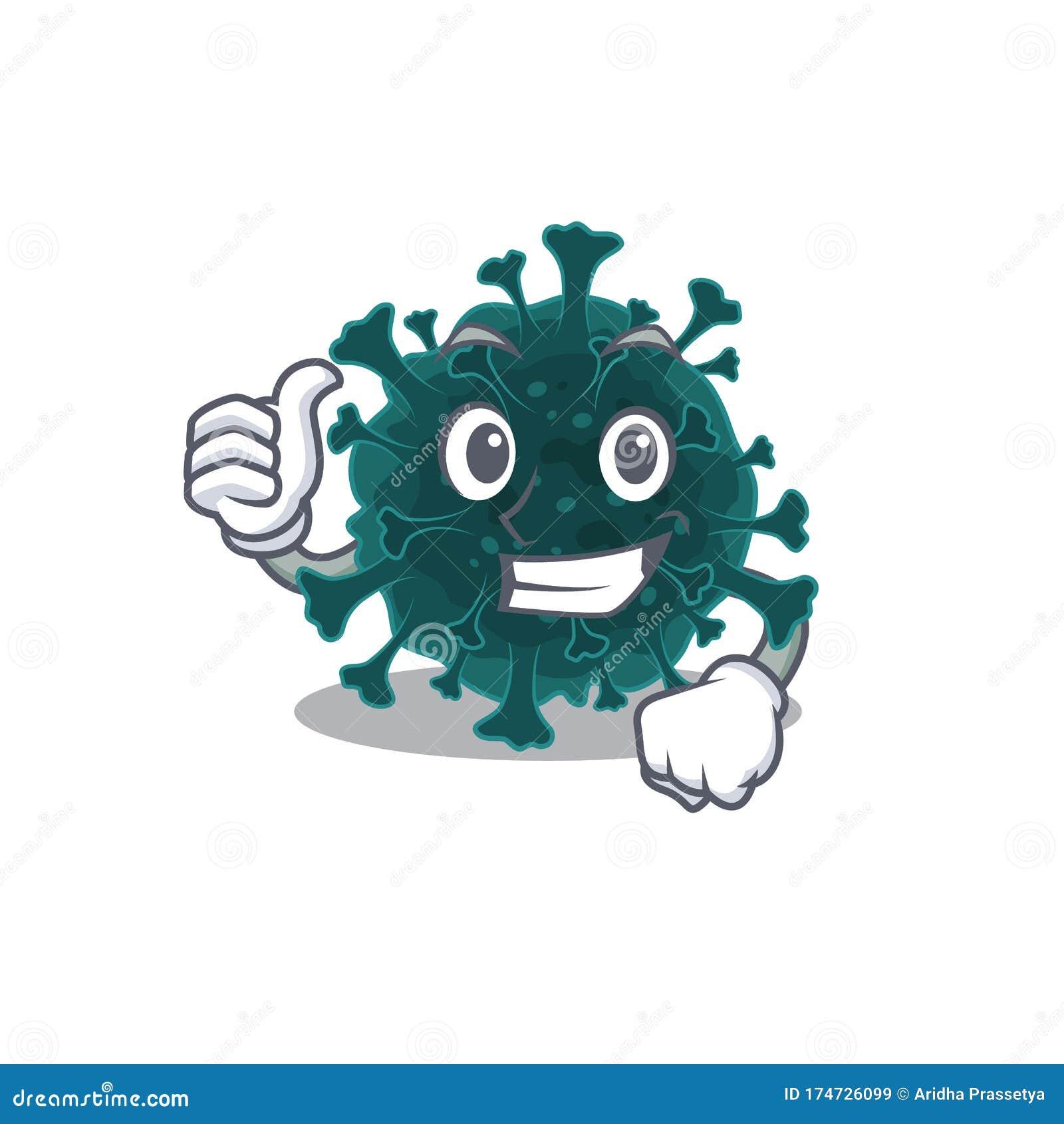 Cool Coronavirus Covid 19 Style De Dessin Anime Faire Thumbs Up Gesture Illustration De Vecteur Illustration Du Dessin Anime 174726099
