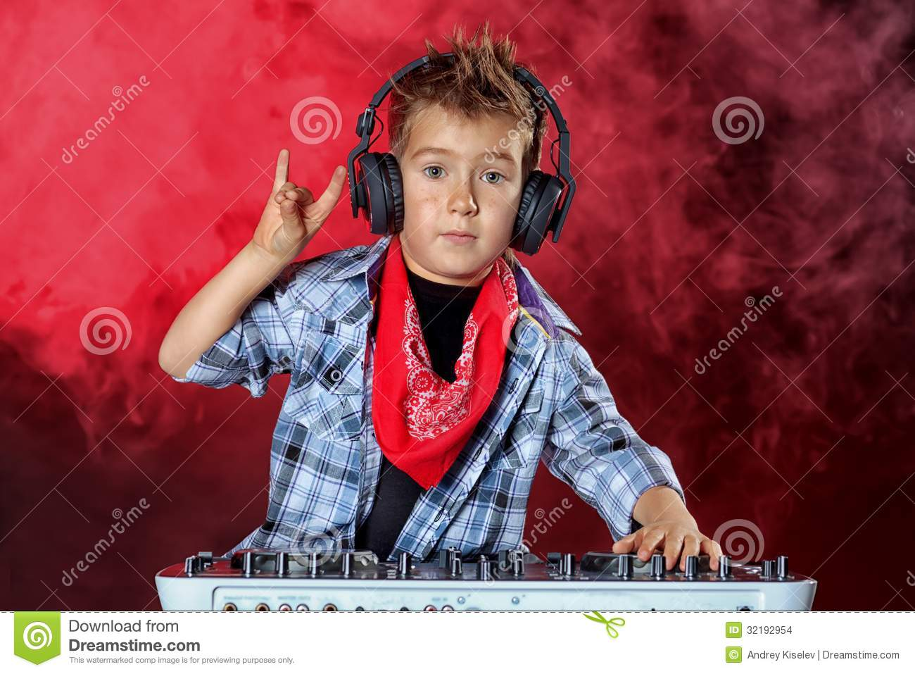 Cool Dj Boy Stock Photo Image Of Little Mixer Artist