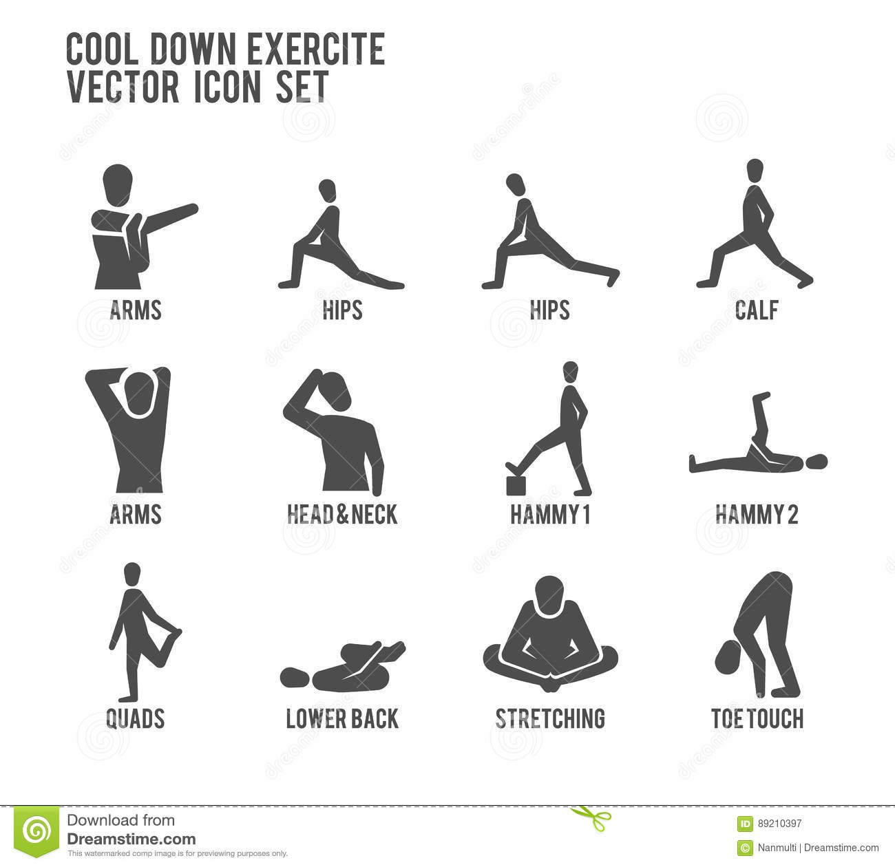cool down warm up exercise stretching workout vector icon. Black Bedroom Furniture Sets. Home Design Ideas