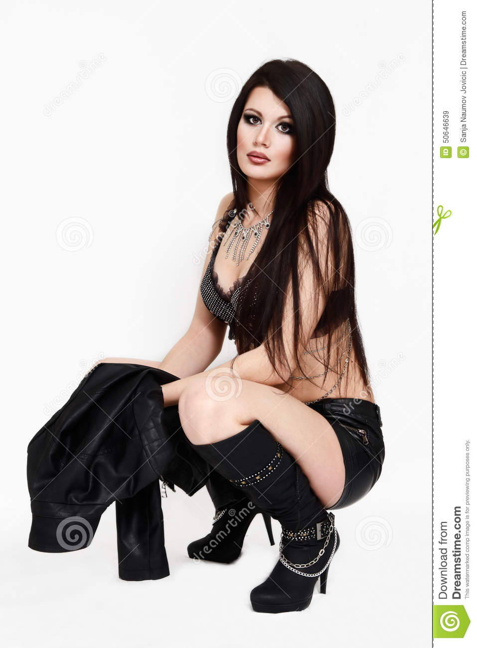Cool Fashion Girl In Urban Rock Clothes Stock Photo Image 50646639