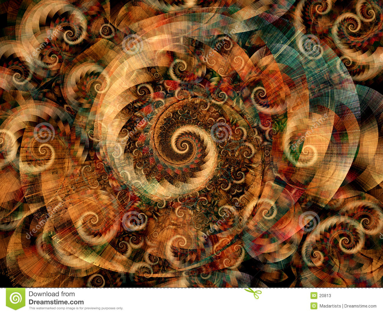 Cool Fractals Swirls Spirals Stock Photos - Image: 20813