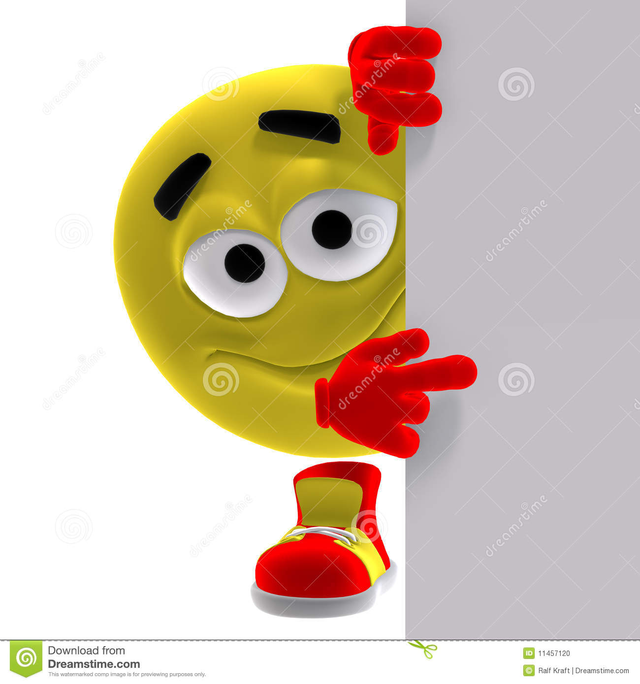 Cool And Funny Yellow Emoticon Says Look Here Stock ...