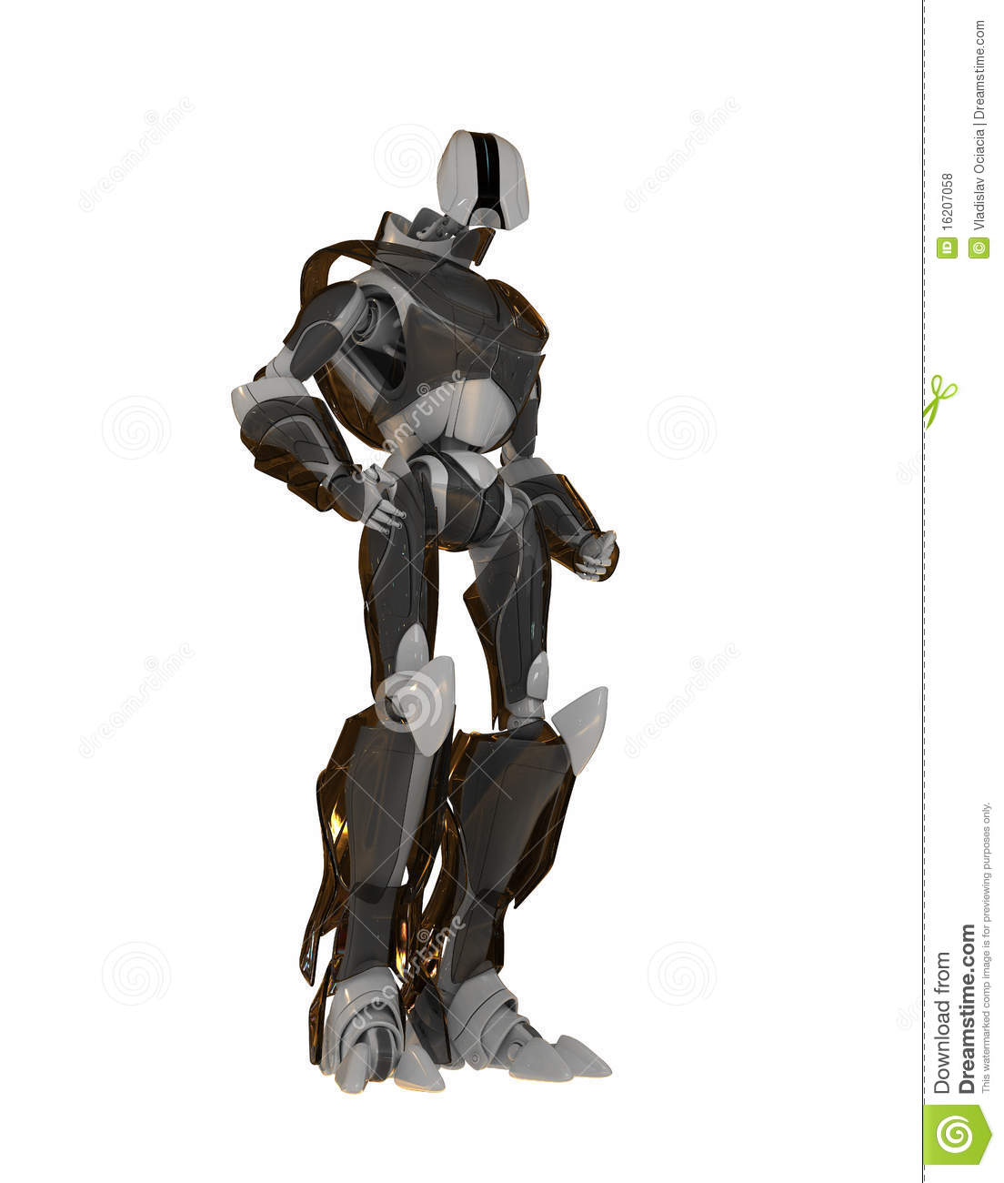 Cool Futuristic Robot Royalty Free Stock Photos - Image: 16207058