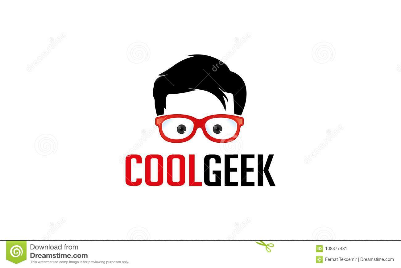 cool geek logo template stock illustration illustration of creative