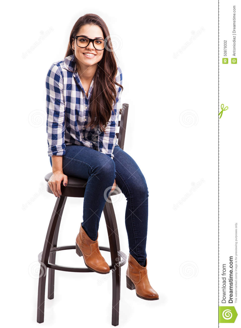 Cool Girl Sitting On A Chair Stock Photo Image Of