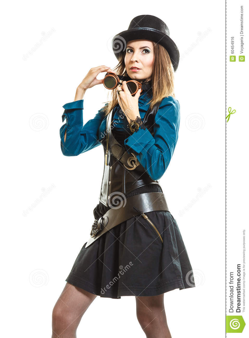 Cool Girl In Steampunk Style Royalty Free Stock Image 60469912