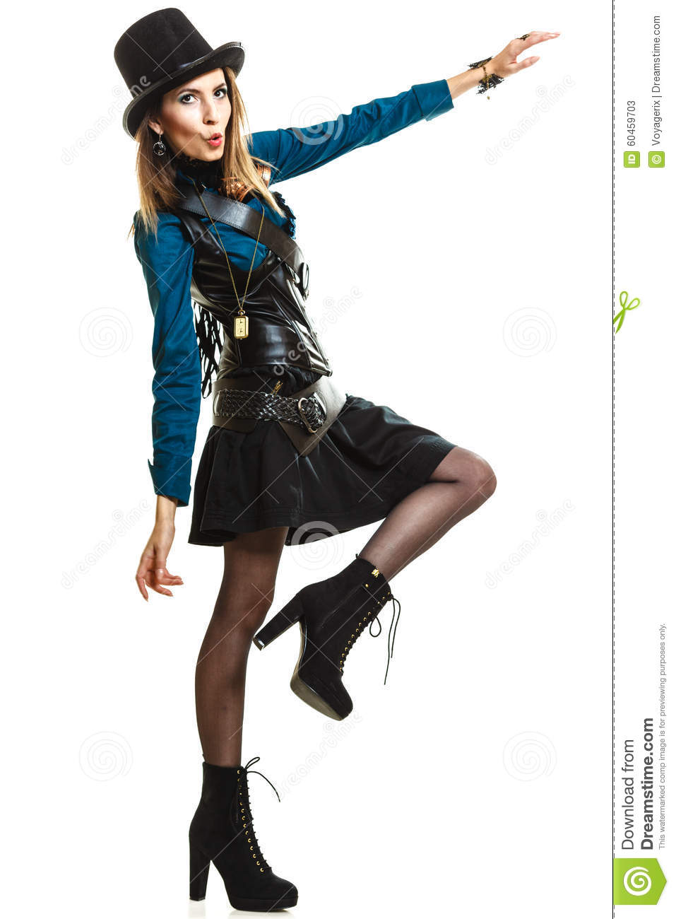 Cool Girl In Steampunk Style Stock Image Image 60459703