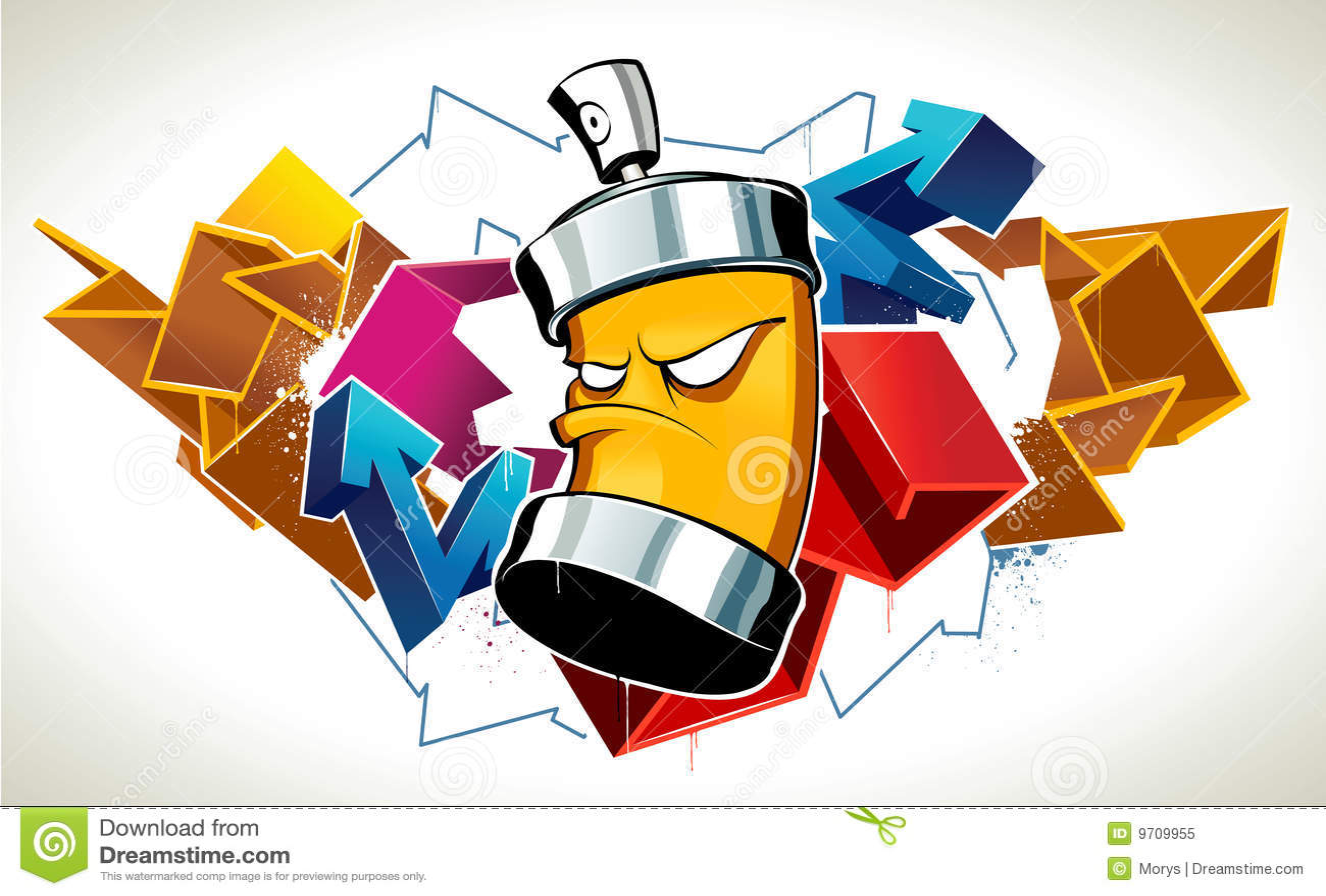 Cool Graffiti Royalty Free Stock Photo Image 9709955