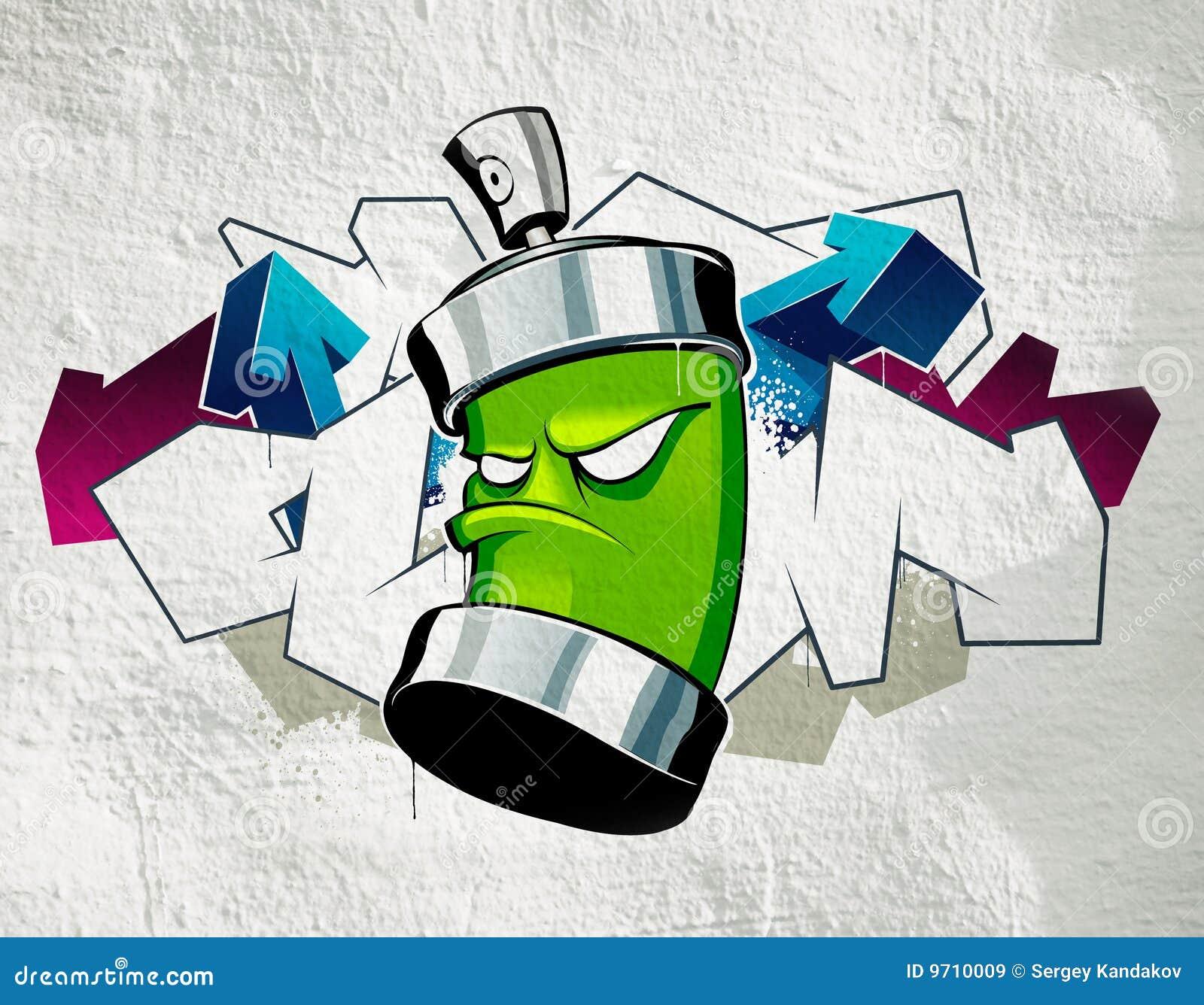 cool graffiti stock illustration illustration of extreme 9710009. Black Bedroom Furniture Sets. Home Design Ideas