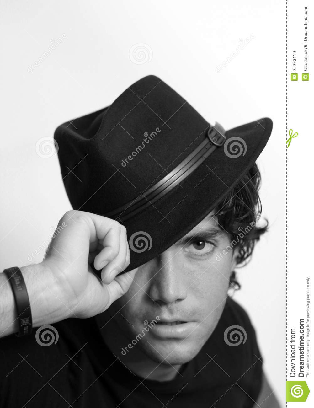 Cool Guy With Hat Stock Photo 22233119 - Megapixl 3668683ef42