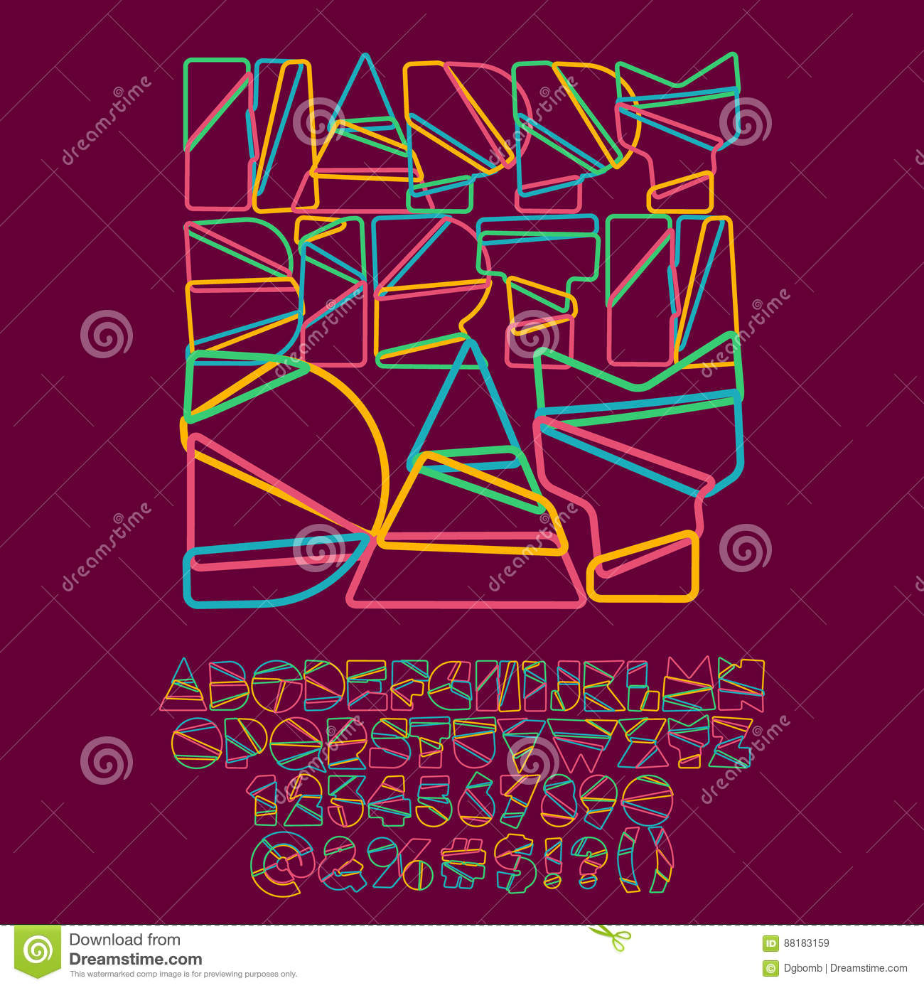 Cool Happy Birthday Greeting Card Stock Vector Illustration Of