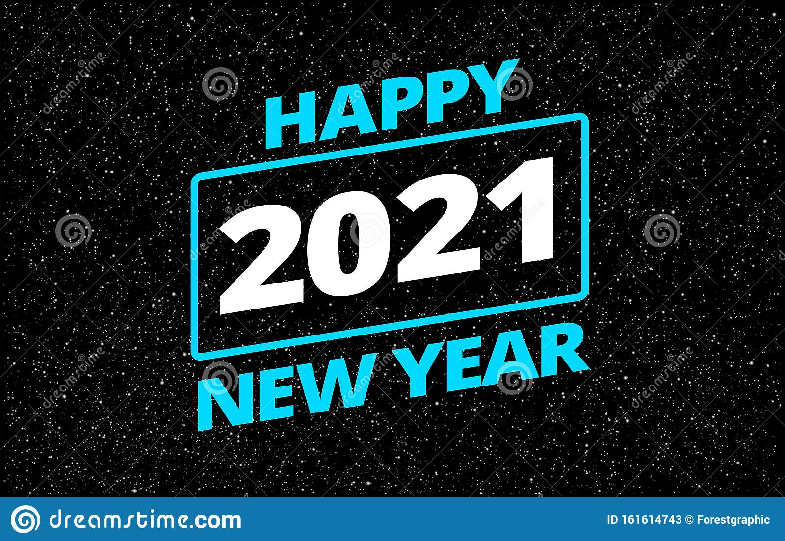 Cool Happy New Year 2021 In Star Space Wars Style Greeting ...
