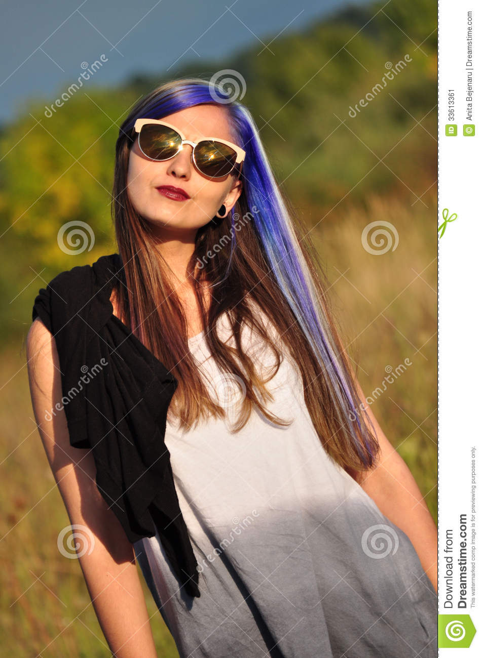Cool Hipster Girl Stock Image Image 33613361