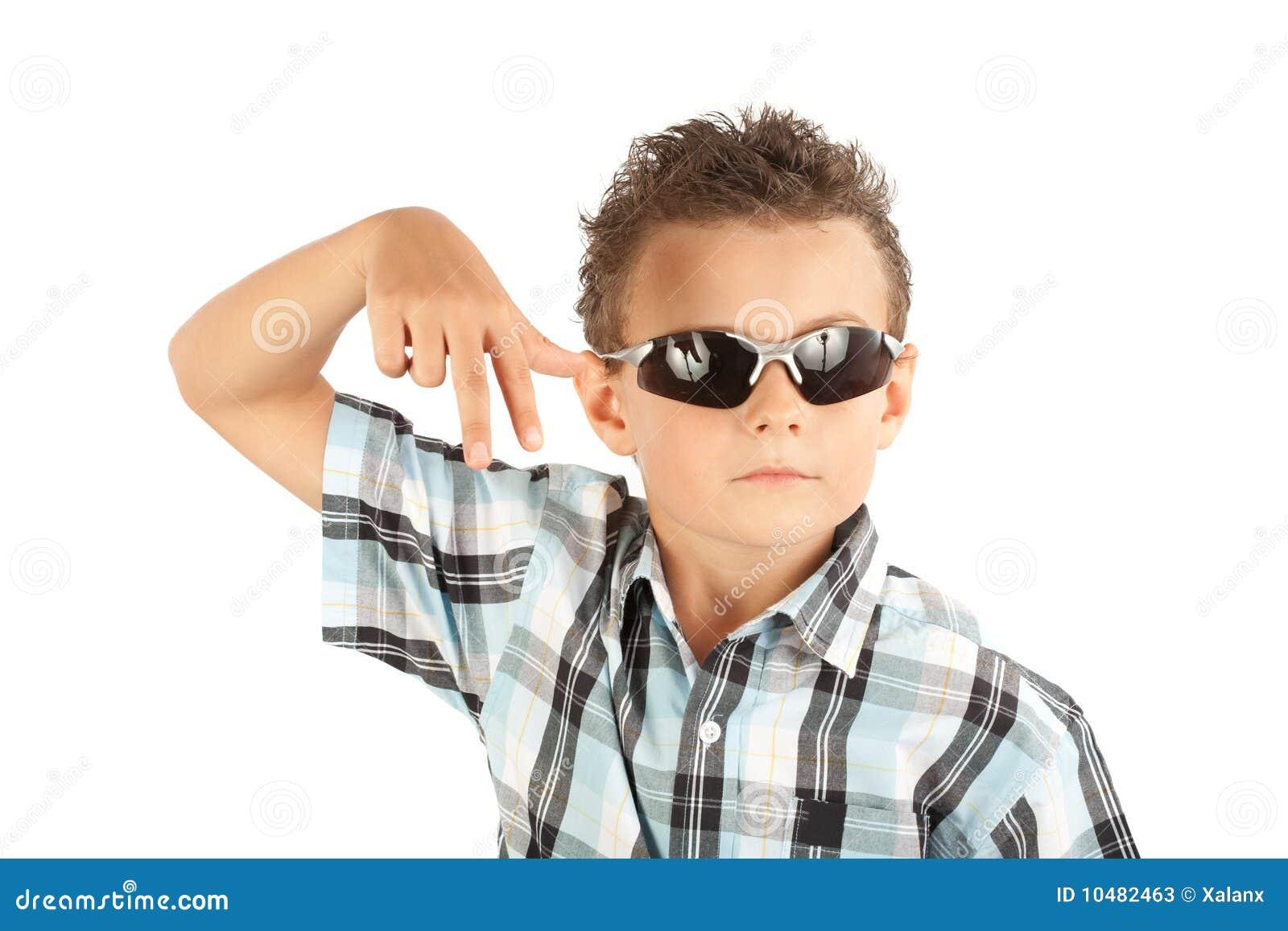 Cool Kid Stock Image Image Of Strong Joyful Sunglasses
