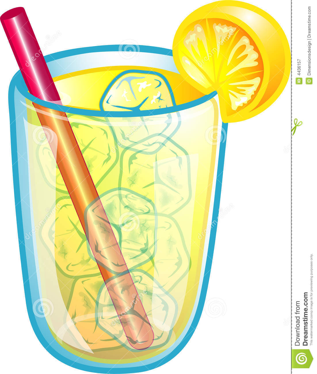 Ice Cold Lemonade Clip Art