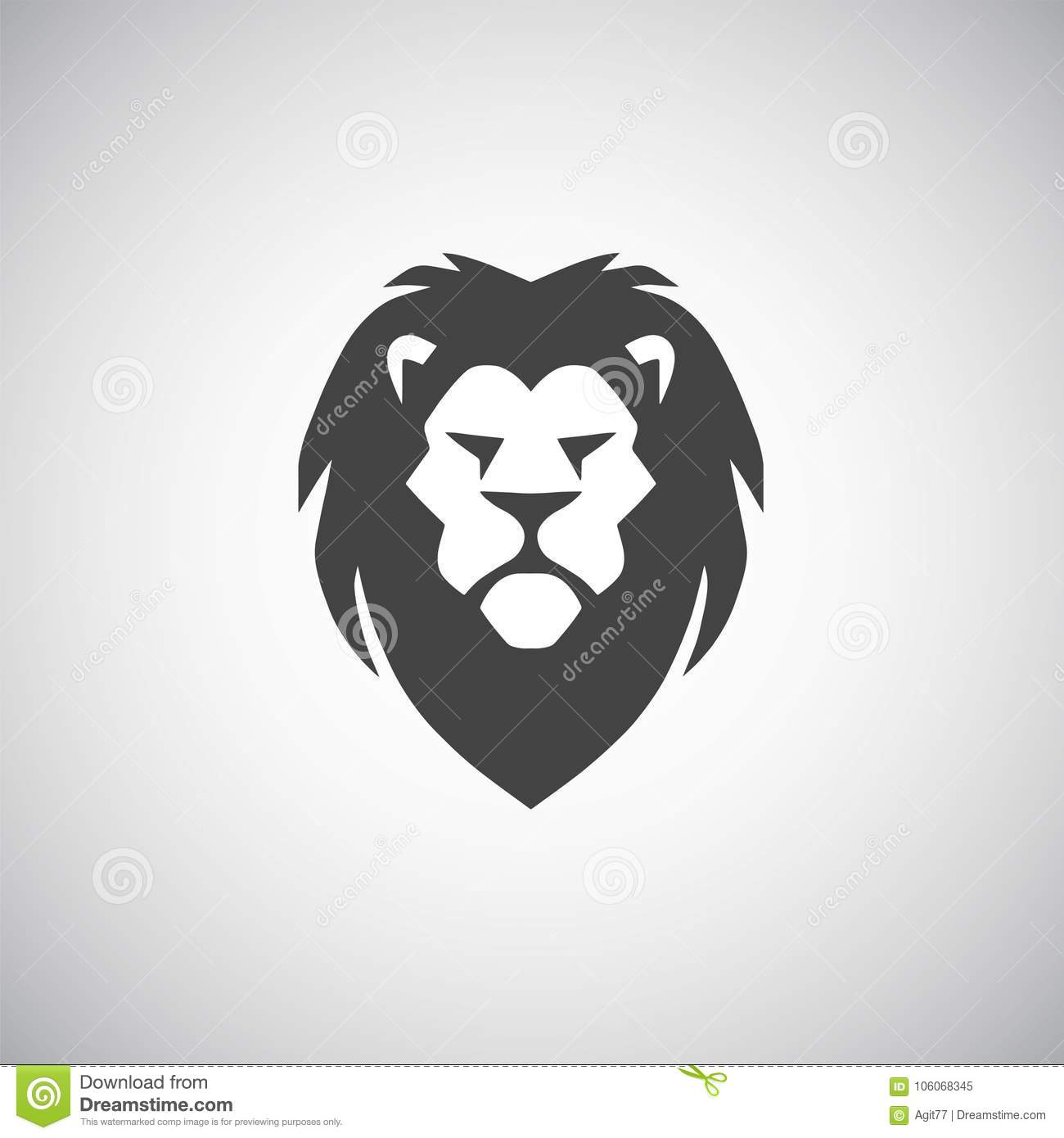 cool lion head logo vector template stock vector illustration of