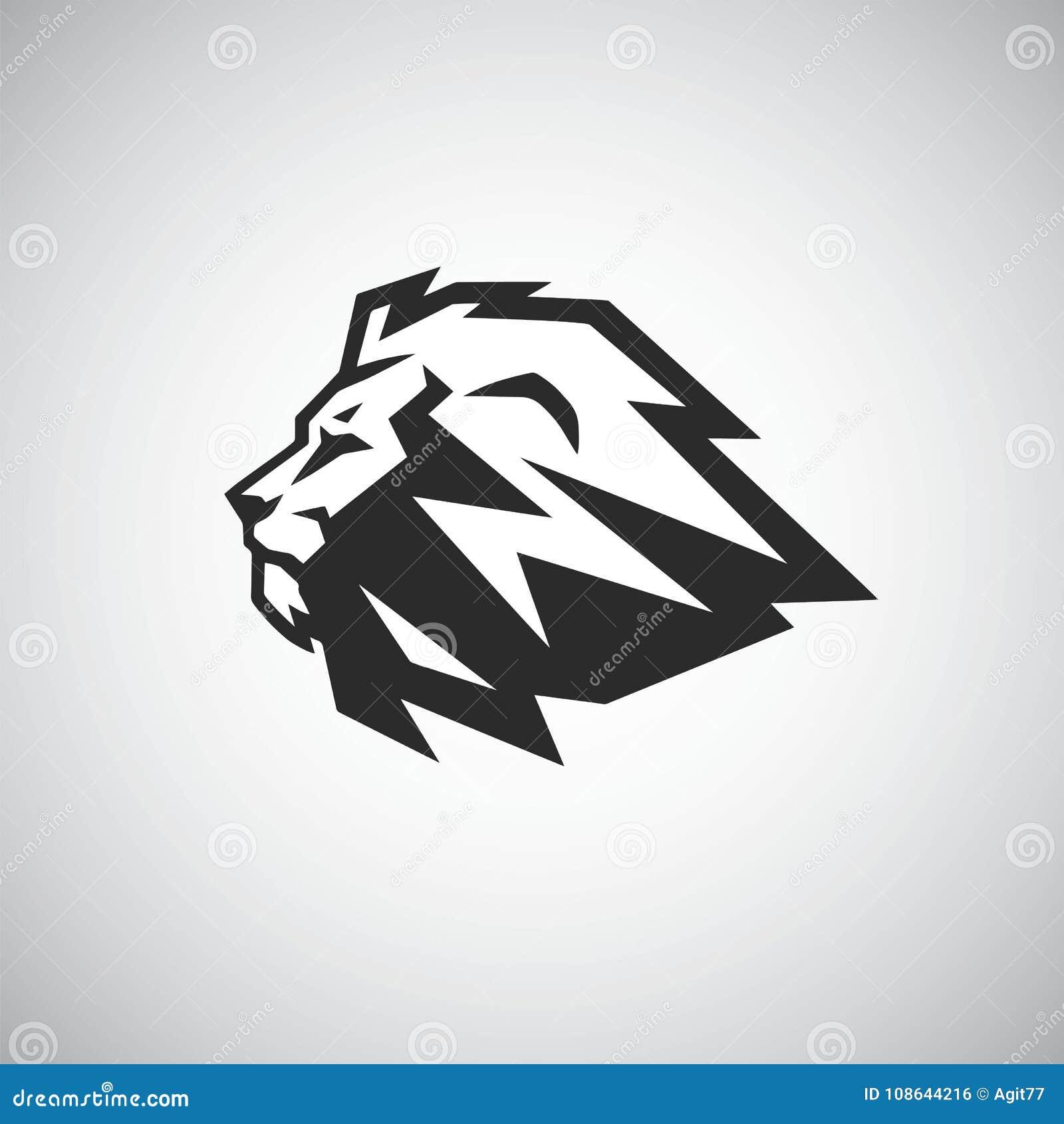 download cool lion logo design stock vector illustration of popular 108644216