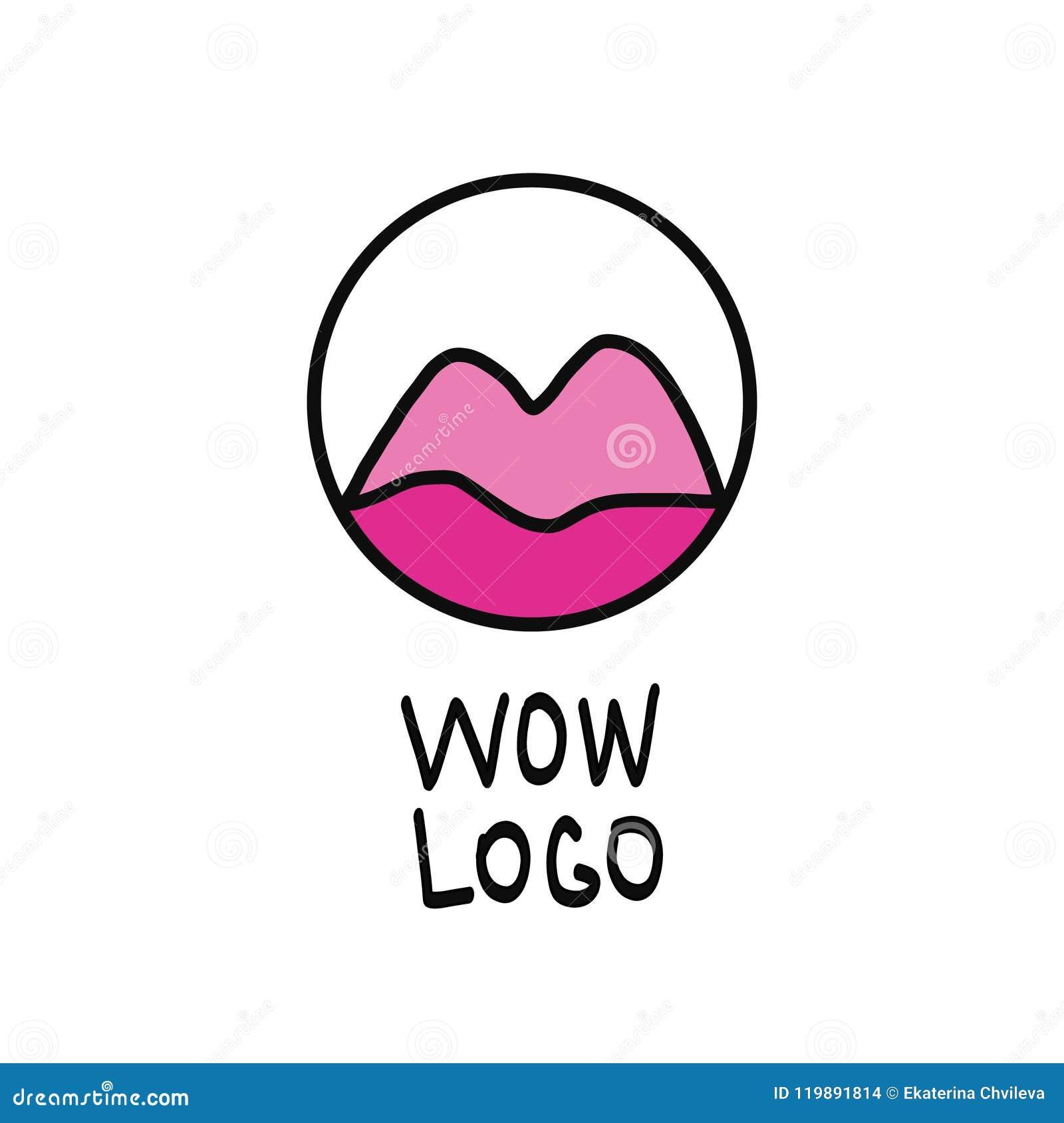 Cool Lips Logo Illustration Stock Vector Illustration Of