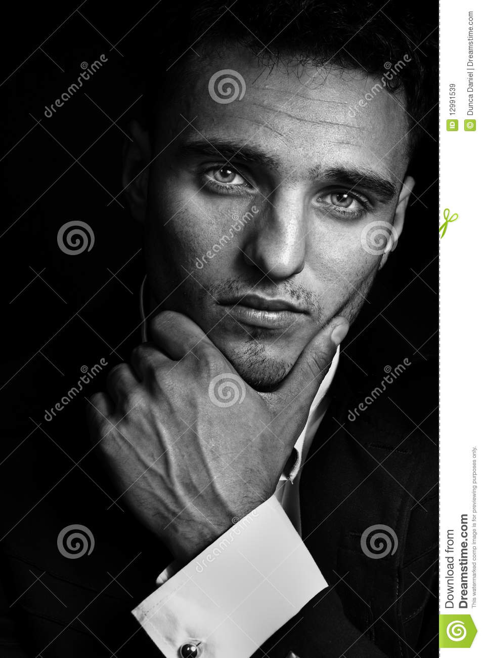 Cool looking masculine handsome man