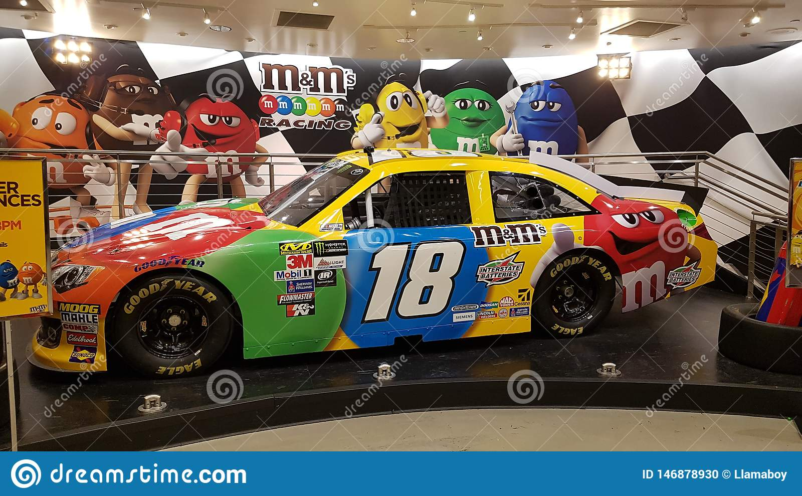 Cool M&m Race Car In The M&m Store In Las Vegas