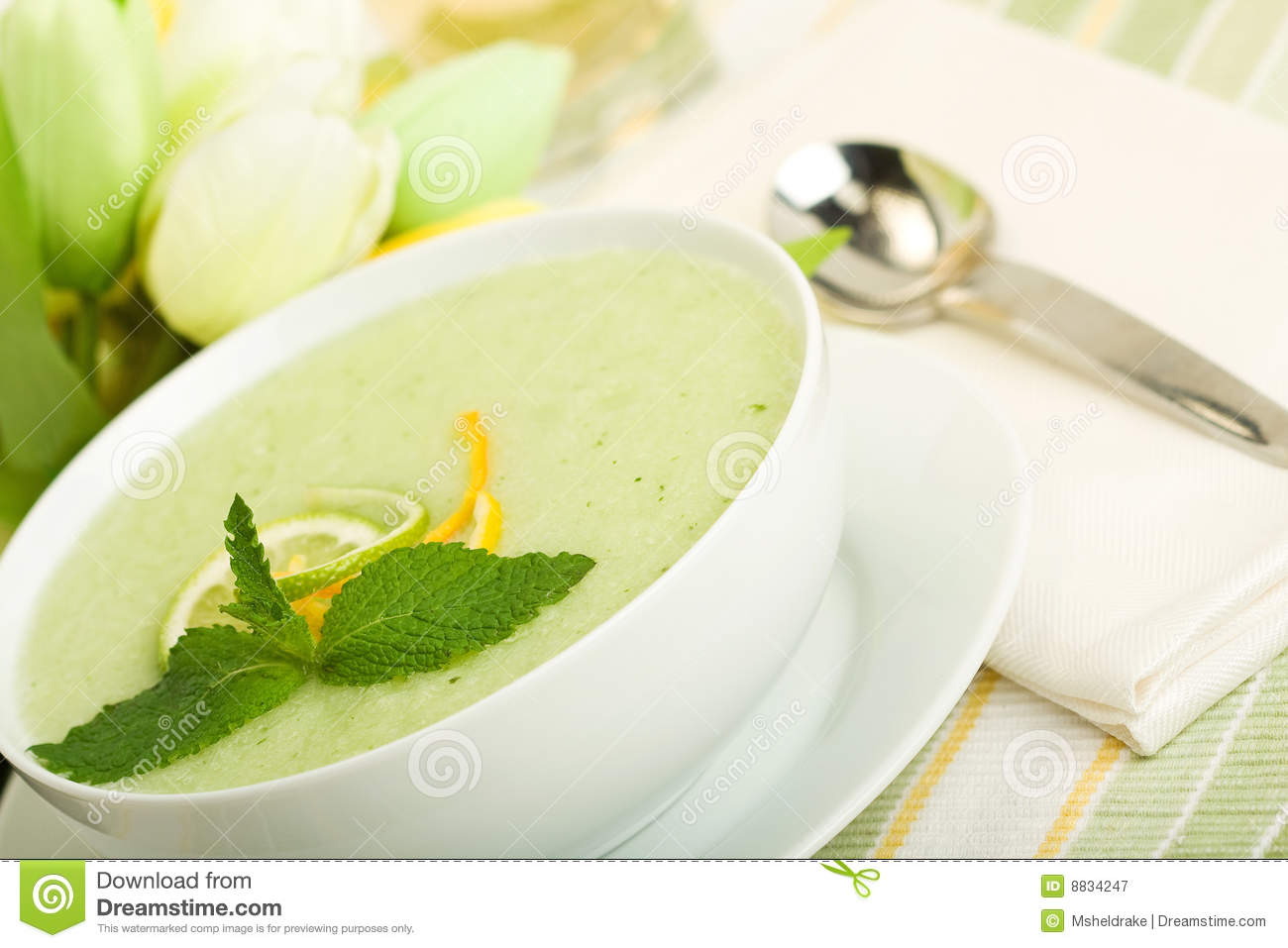 Cool Melon Soup Royalty Free Stock Photography - Image: 8834247